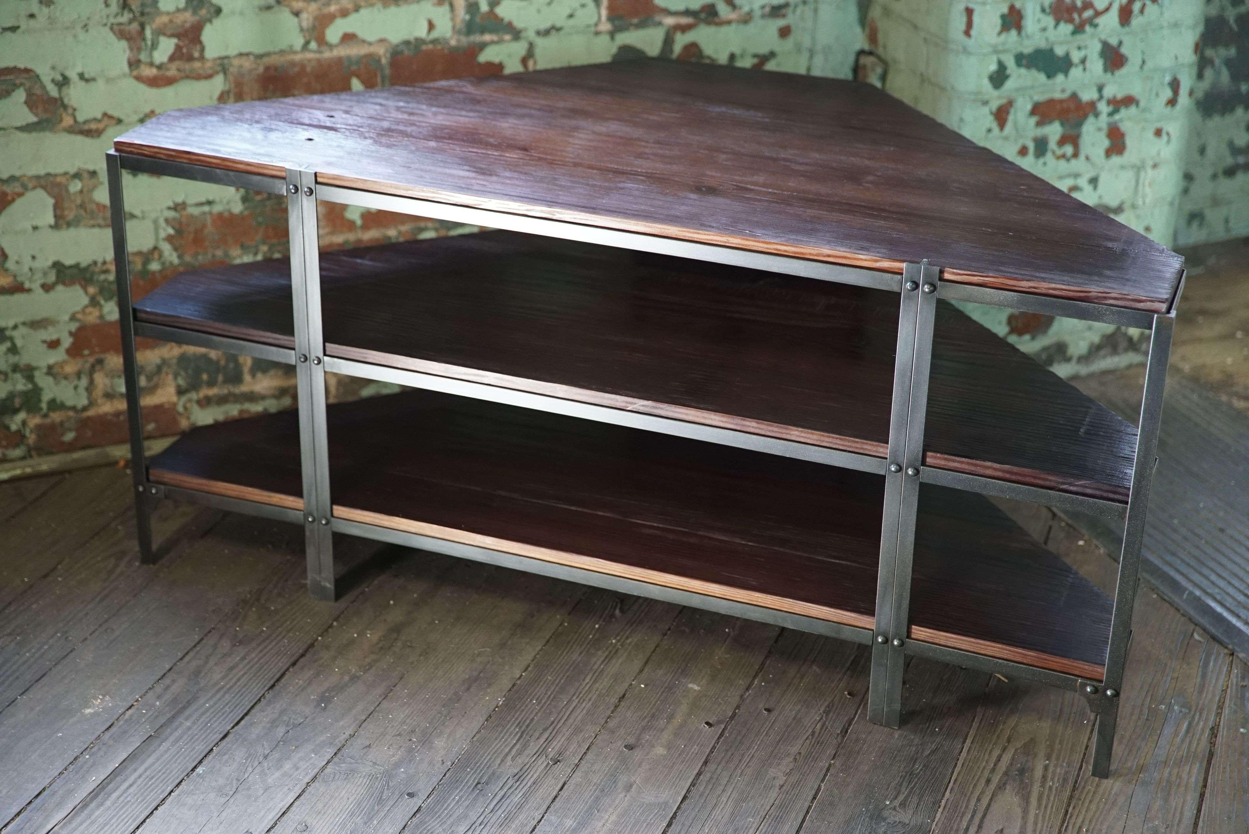 Hand Made Media Unit. Corner Console / Tv Stand (View 11 of 15)