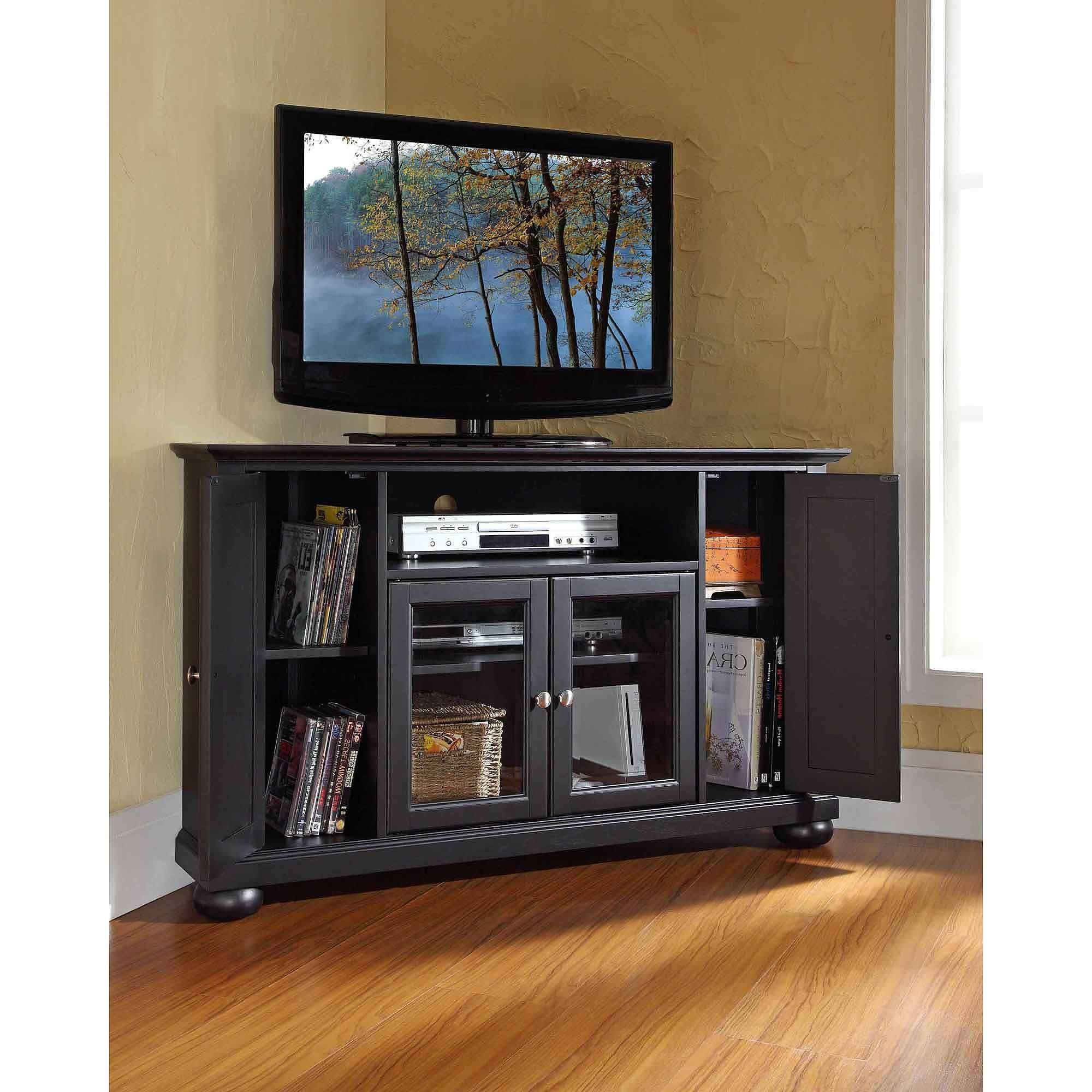 Harbor View Corner Entertainment Credenza Sauder Pictures Large Tv With Regard To Tv Stands For Large Tvs (View 9 of 15)