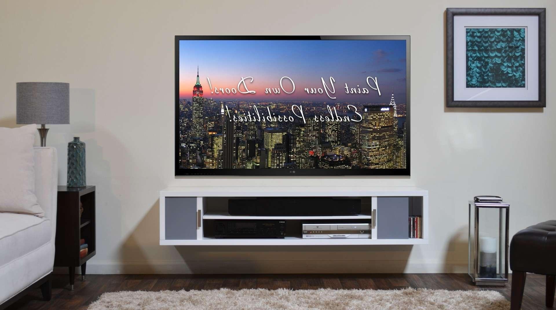 Hartleys Set Of Black Corner Wooden Curved Floating Wall Shelves Regarding Single Shelf Tv Stands (View 7 of 15)