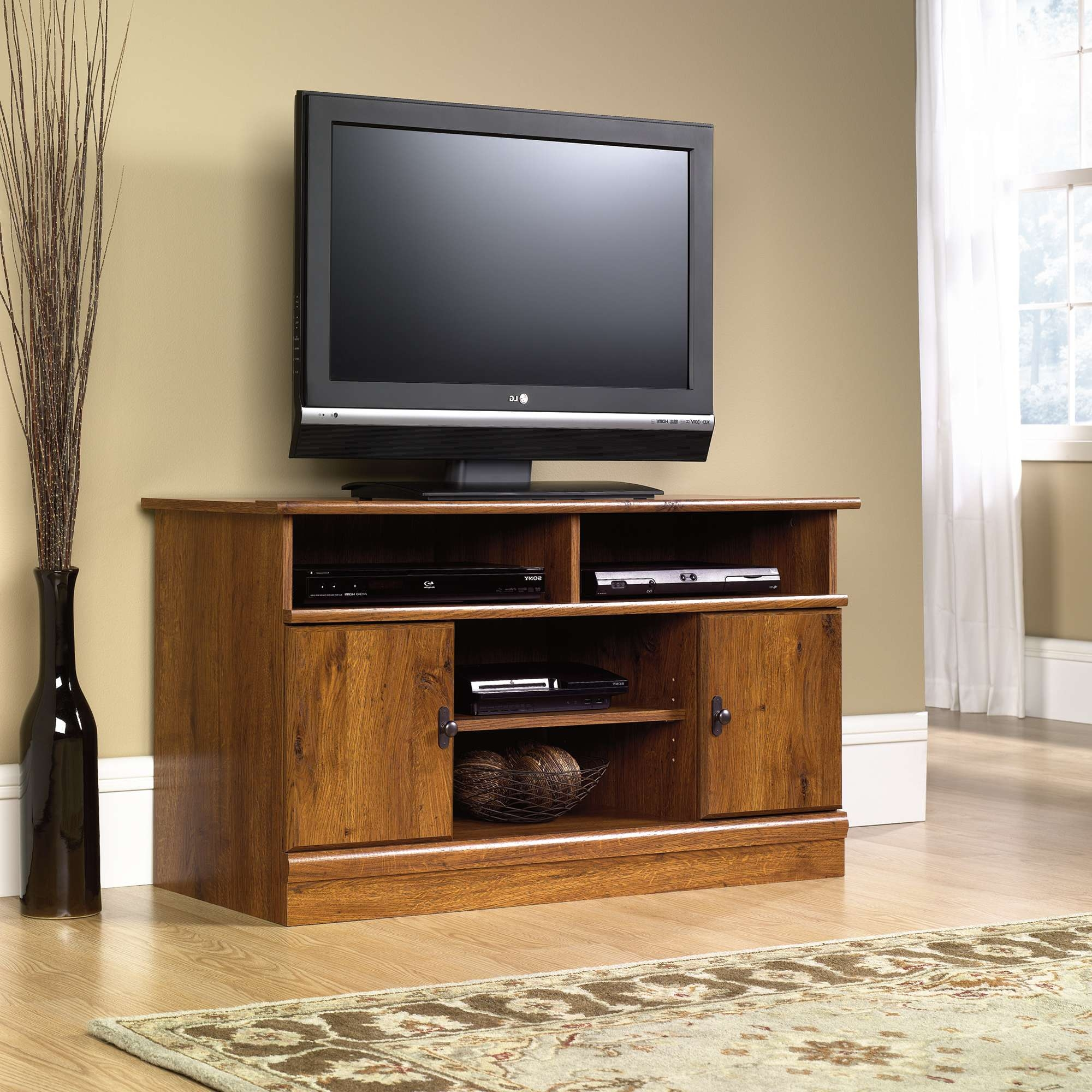 Harvest Mill | Panel Tv Stand | 407432 | Sauder In Tv Stands For 43 Inch Tv (View 6 of 15)