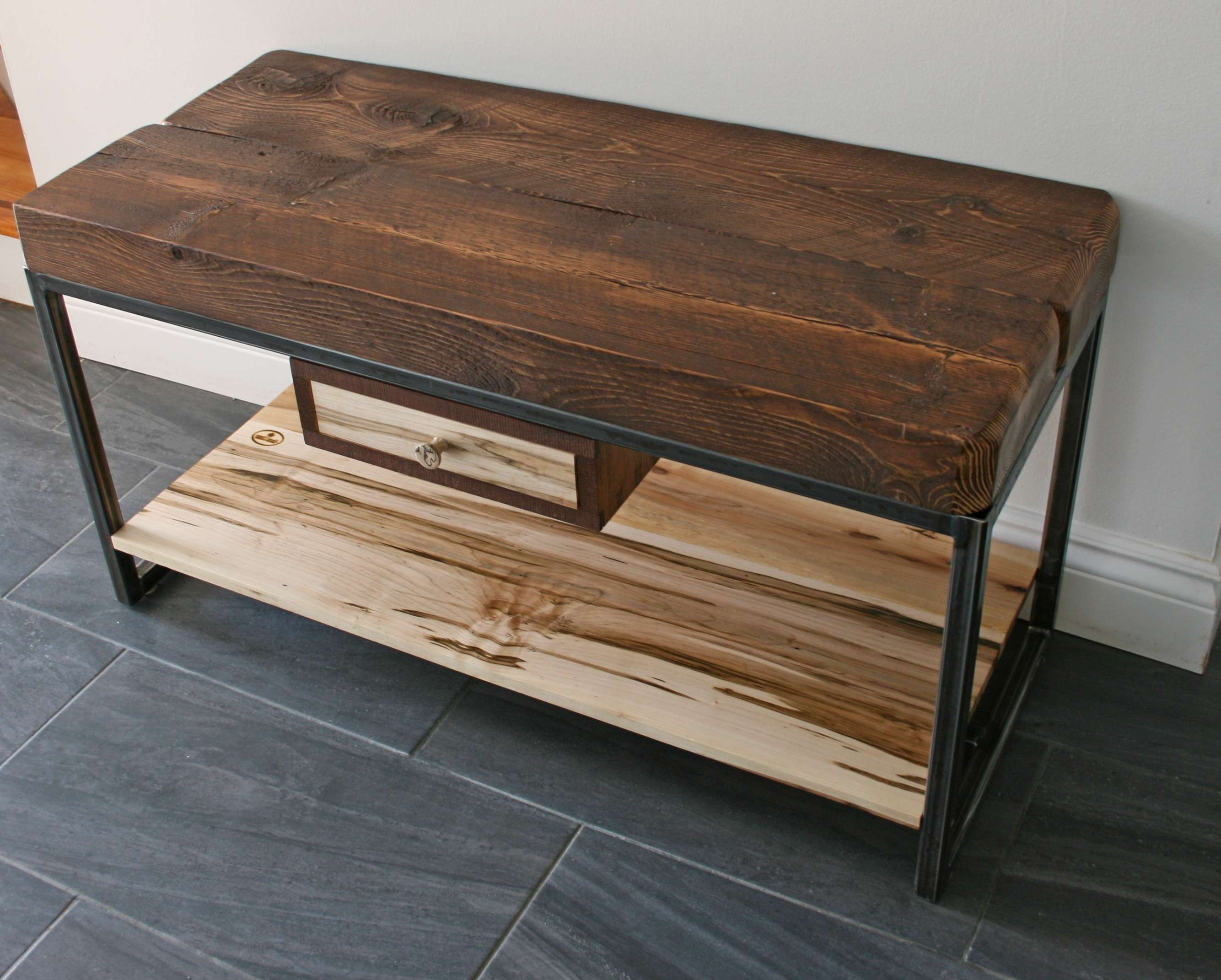 Hemlock And Wormy Maple Tv Stand | Second Nature Wood Design In Maple Tv Cabinets (View 17 of 20)