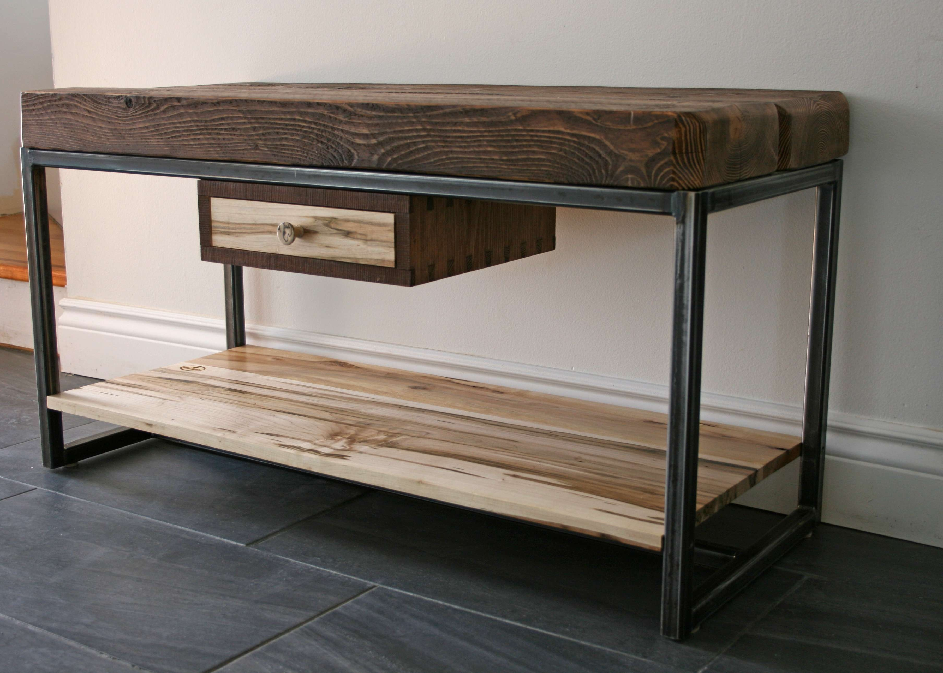 Hemlock And Wormy Maple Tv Stand | Second Nature Wood Design Within Maple Tv Cabinets (View 8 of 20)