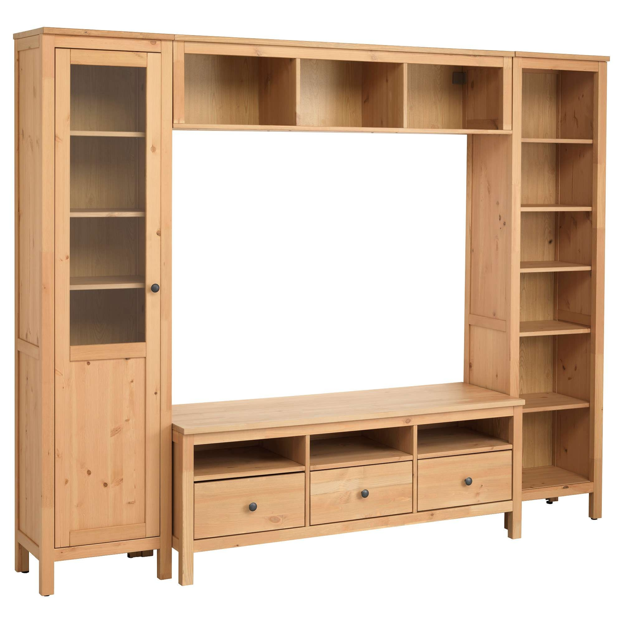 Hemnes Tv Storage Combination Light Brown Living Room Media Cm In Light Colored Tv Stands (View 11 of 15)