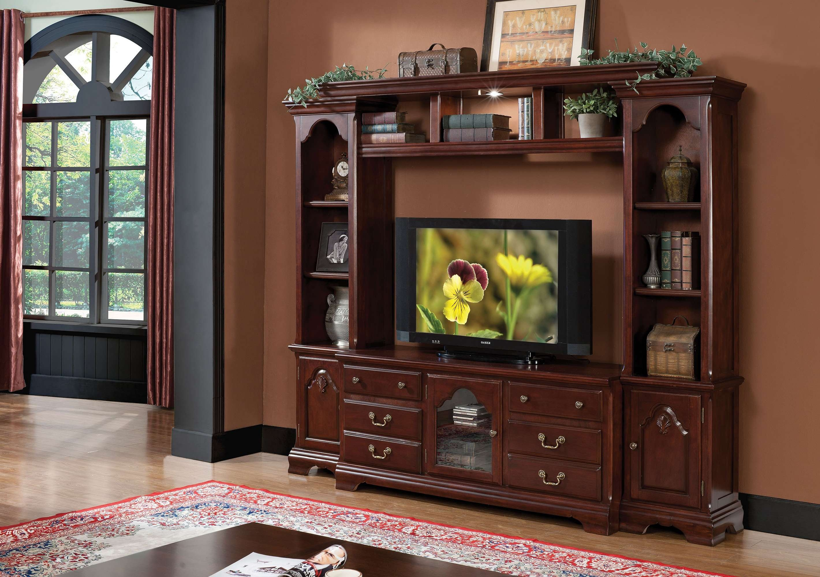 Hercules Entertainment Center With Tv Stand (91113) Intended For Cherry Tv Stands (View 10 of 15)