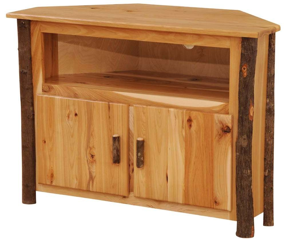 Hickory Corner Tv Stand – The Log Furniture Store Pertaining To Pine Corner Tv Stands (View 8 of 15)