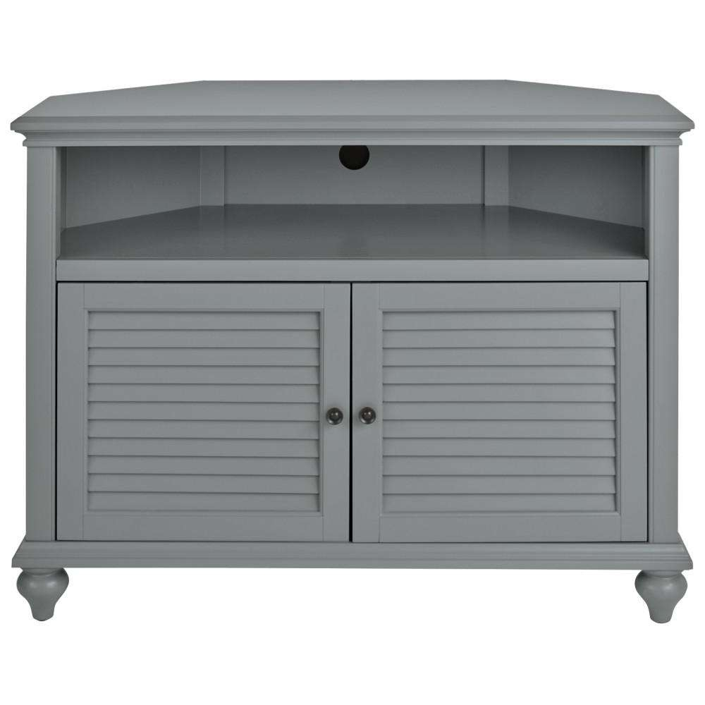 Home Decorators Collection Hamilton 31 In H Highboy Corner Tv Intended For Grey Tv Stands (View 6 of 15)
