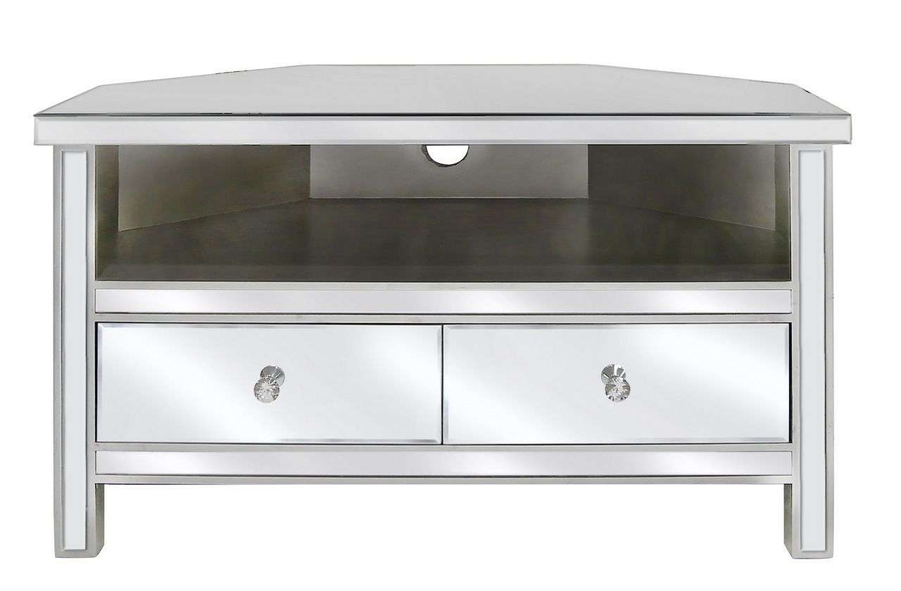 Home Design : Breathtaking Mirrored Furniture Tv Unit Stunning Pertaining To Silver Corner Tv Stands (View 11 of 15)