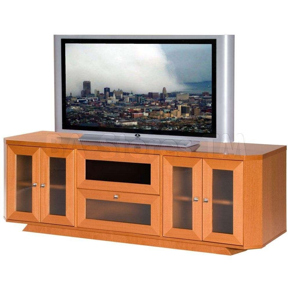 Home Design : Furniture Light Brown Wooden Corner Tv Stand With In Light Brown Tv Stands (View 4 of 20)