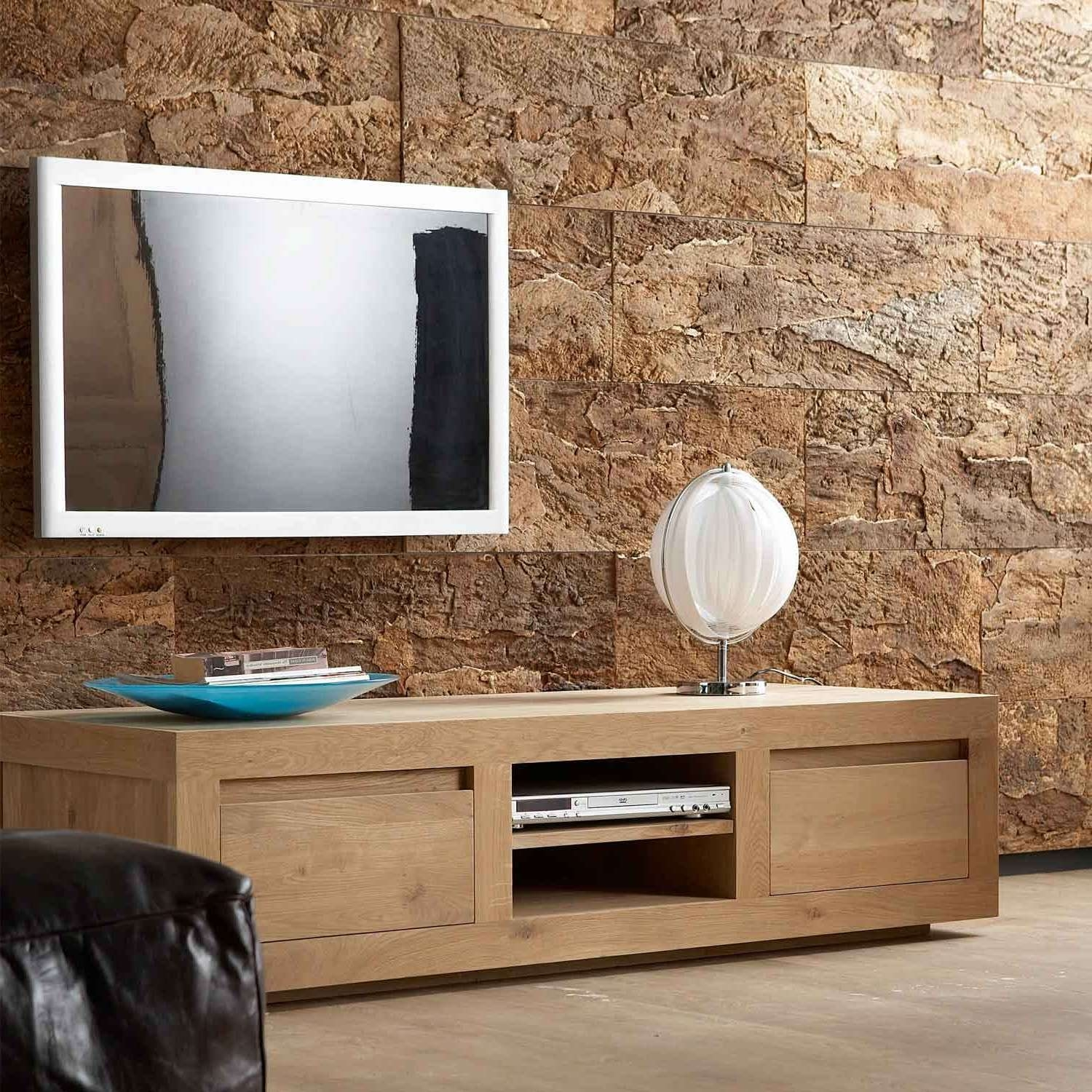 Home Design Modern Black Tv Stand With Storage Unit Feat Floating Regarding Modern Oak Tv Stands (View 3 of 15)