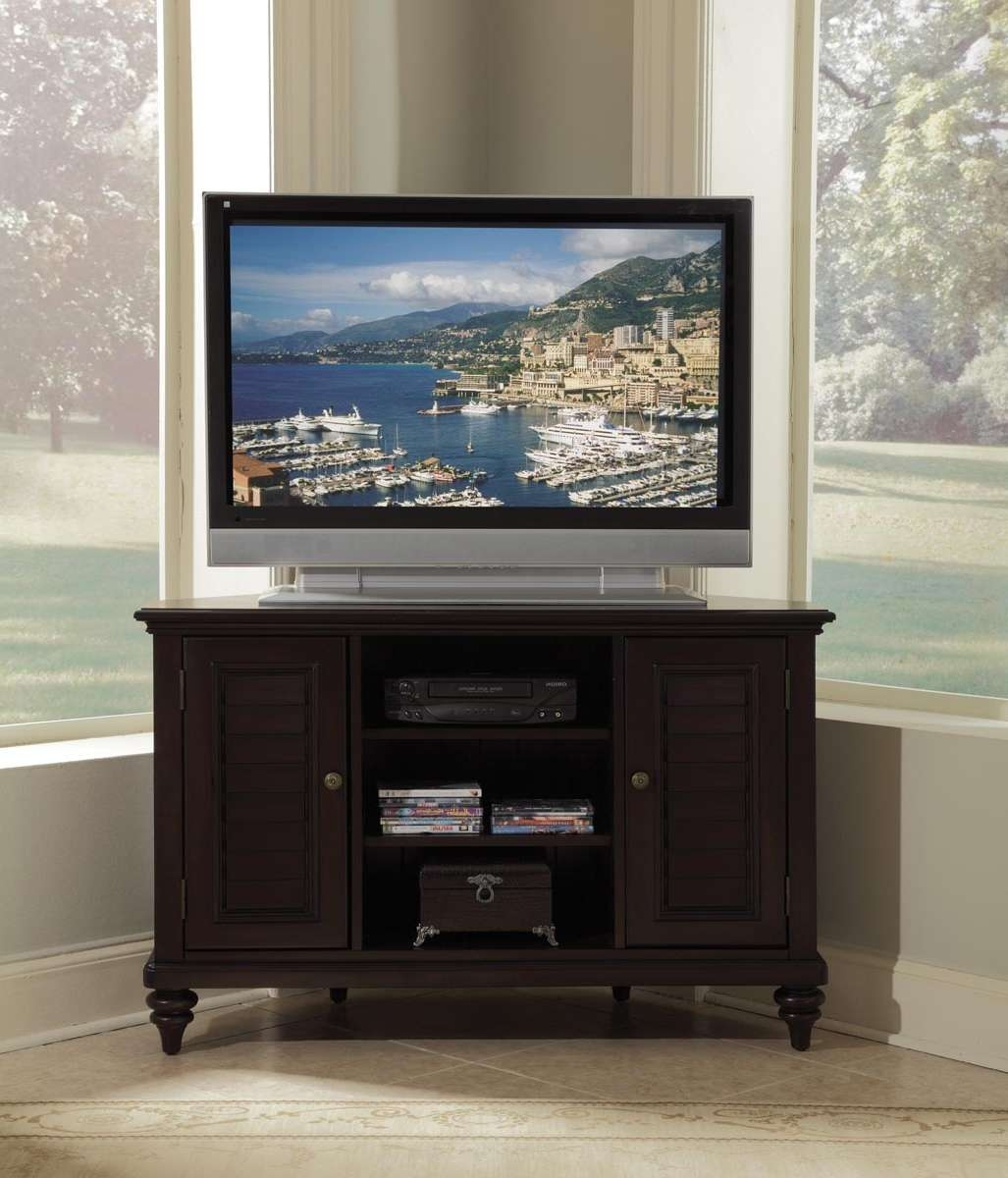 Home Styles Bermuda Corner Tv Stand 554X 07 With Regard To Tv Stands For Corners (View 12 of 20)