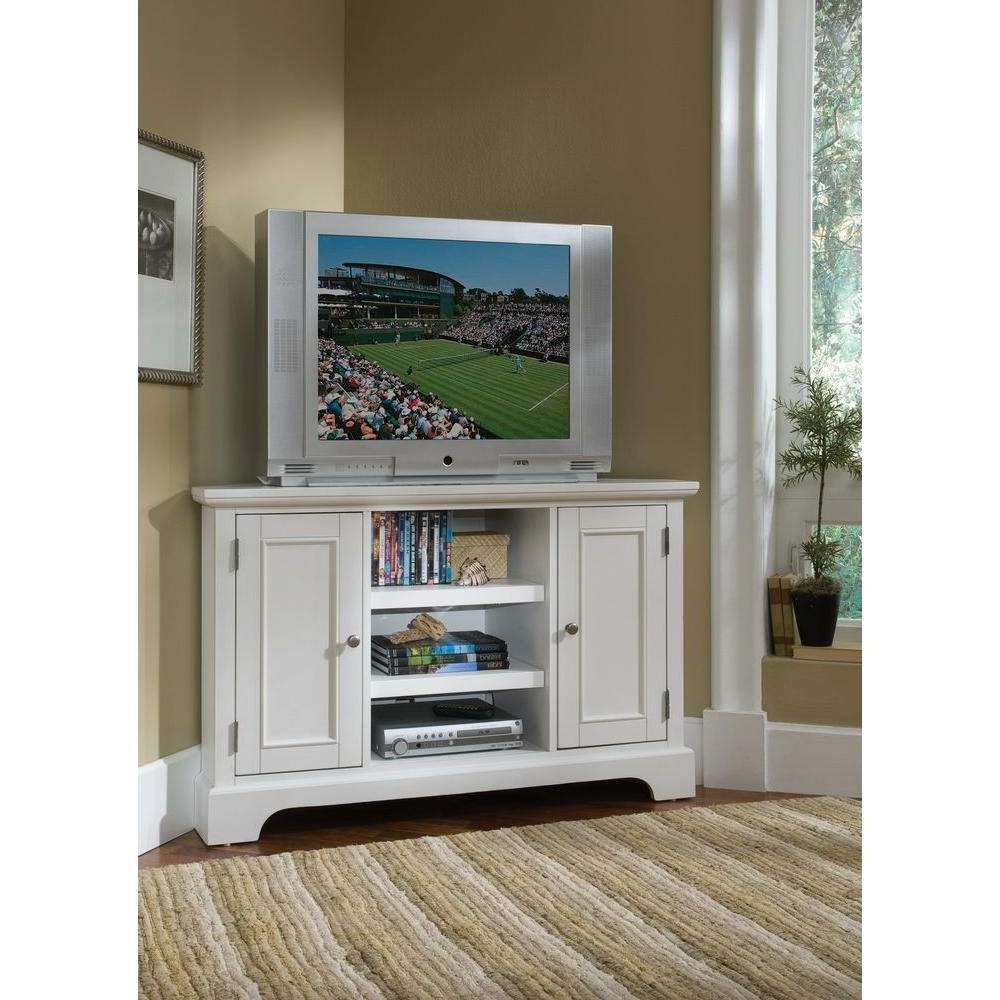 Home Styles Naples White Entertainment Center 5530 07 – The Home Depot Pertaining To Off White Corner Tv Stands (View 12 of 15)