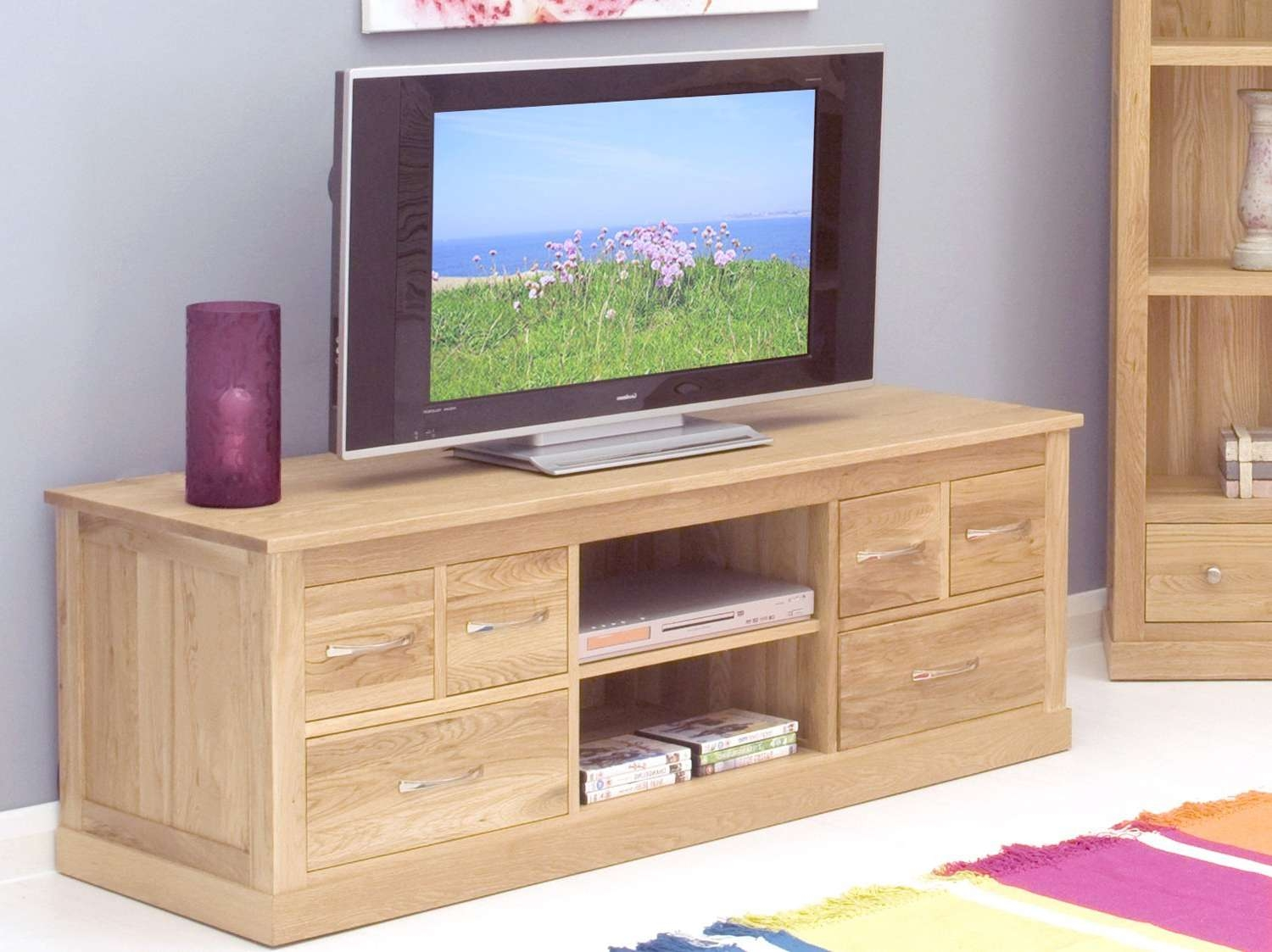 Honey Oak Tv Stand : Innovative Designs Oak Tv Console – Marku In Honey Oak Tv Stands (View 2 of 15)