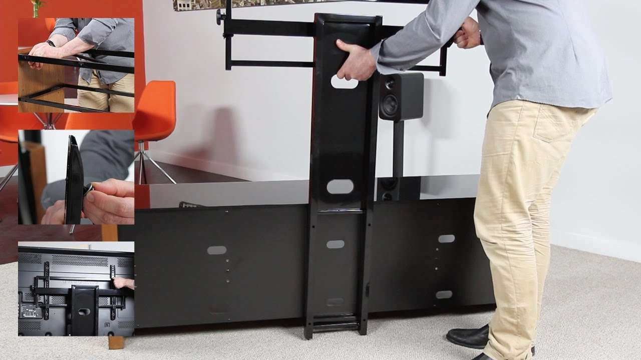 How To Install A Tv Stand And Mount – Mesa 46 & 64 Plus   Kanto With Regard To Tv Stands Swivel Mount (View 8 of 15)