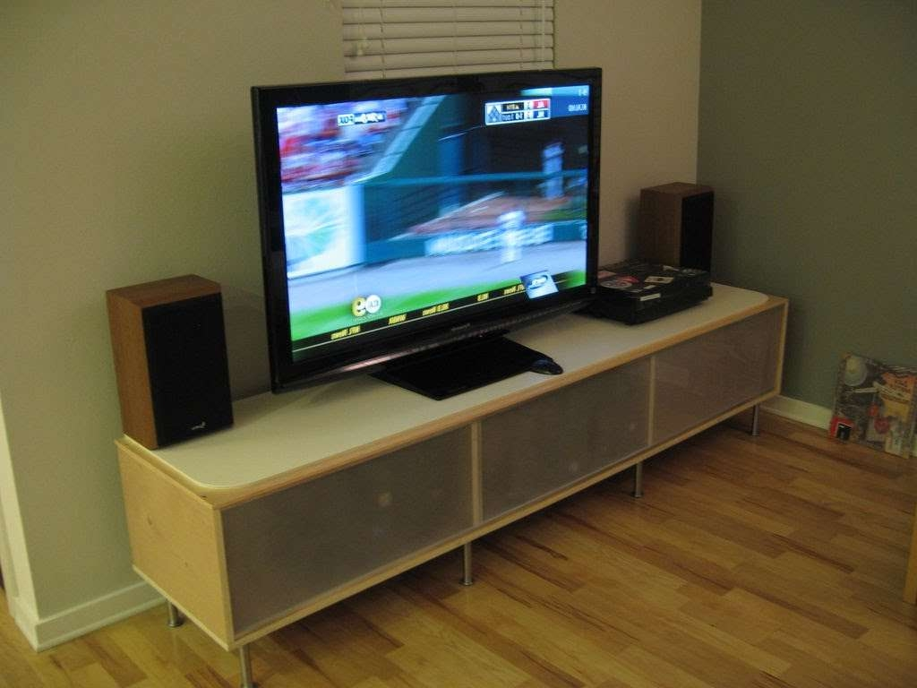 How To Put A Tv On A Tv Stand !!! – Youtube Within Turntable Tv Stands (View 3 of 15)