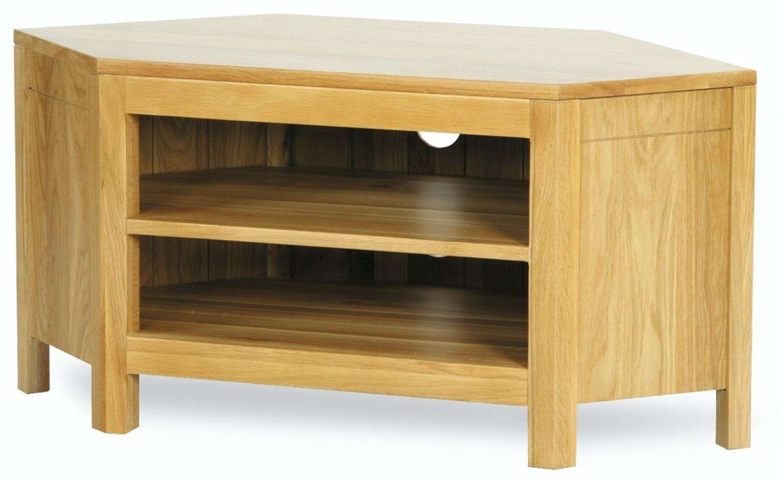 Hutch® – Sherwood Solid Oak Corner Tv Unit Intended For Tv Cabinets Corner Units (View 8 of 20)