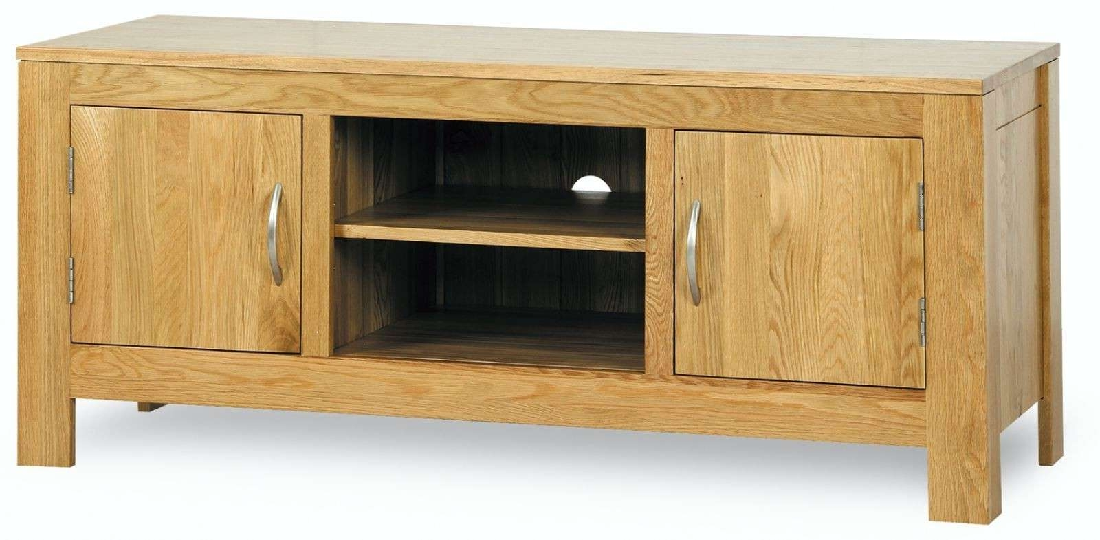 Hutch® – Sherwood Solid Oak Low Plasma Tv Unit Intended For Low Oak Tv Stands (View 7 of 20)