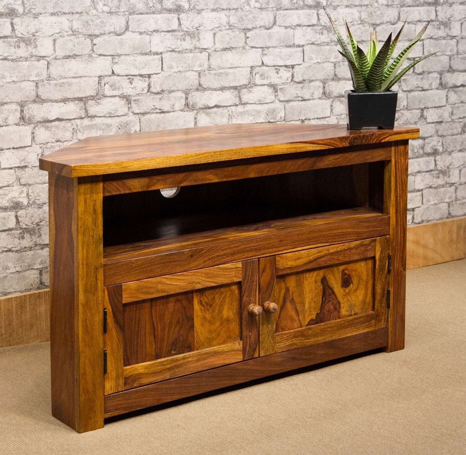 Ibf 013 100Cm Corner Tv Stand With Regard To 100Cm Tv Stands (Gallery 2 of 15)