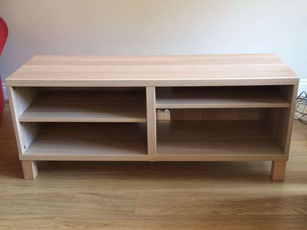 Ikea Besta Tv Stand Cabinet Unit – Lovely Pale White Oak Veneer Inside Oak Veneer Tv Stands (Gallery 4 of 15)