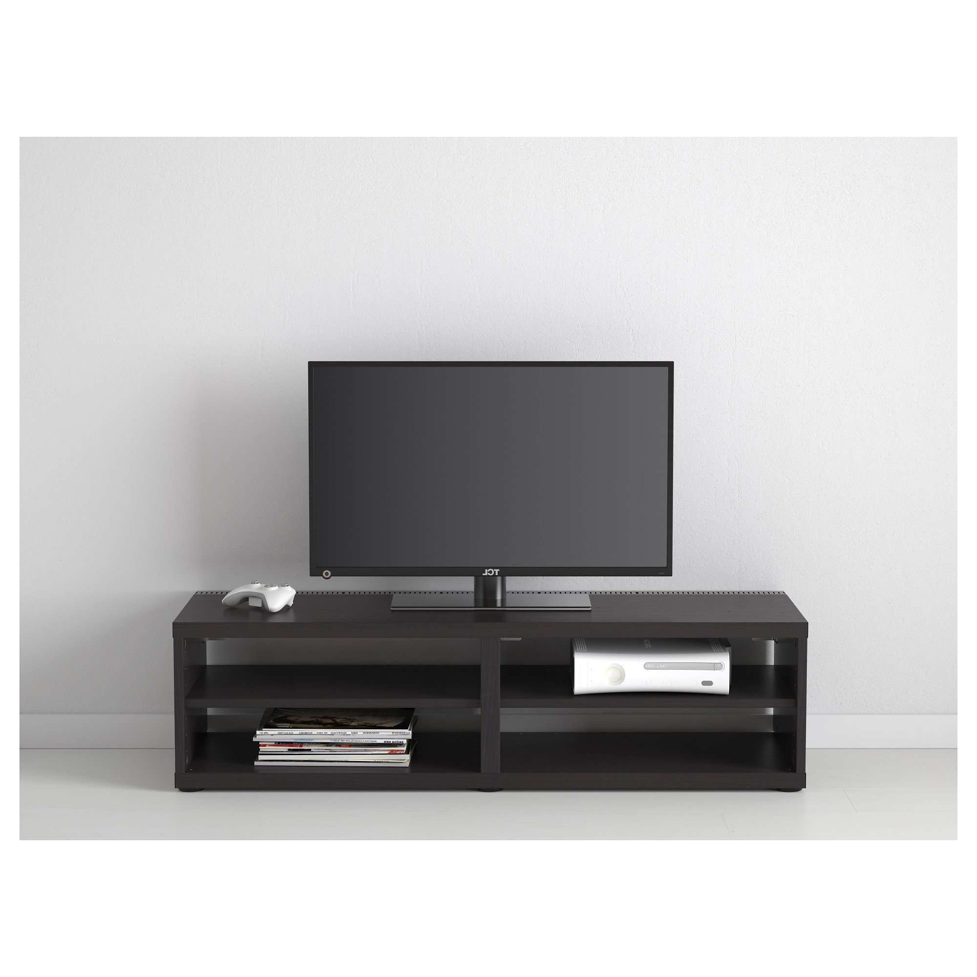 Ikea Besta Tv Stand With Long Black Wooden Tv Stand Having Wooden Pertaining To Long Black Tv Stands (View 11 of 15)