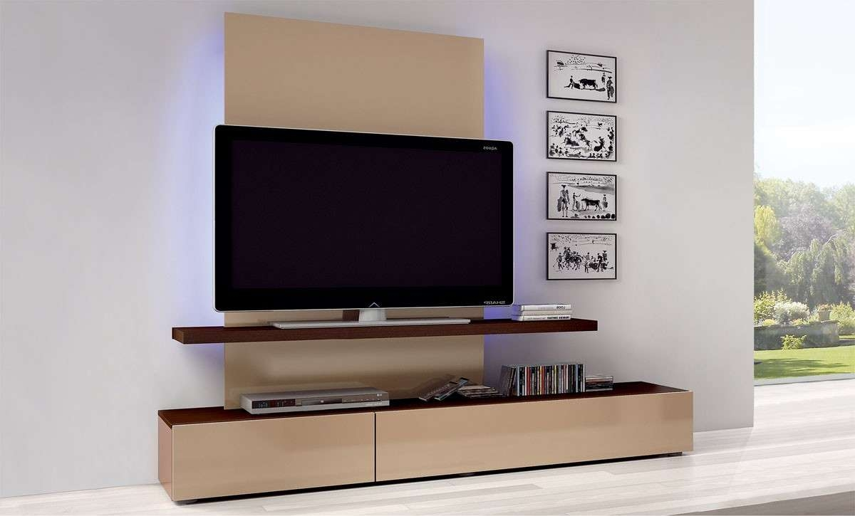Impressive Ideas Stands With Also Wall Mount Tv Stand Custom Home Intended For Light Brown Tv Stands (View 5 of 20)