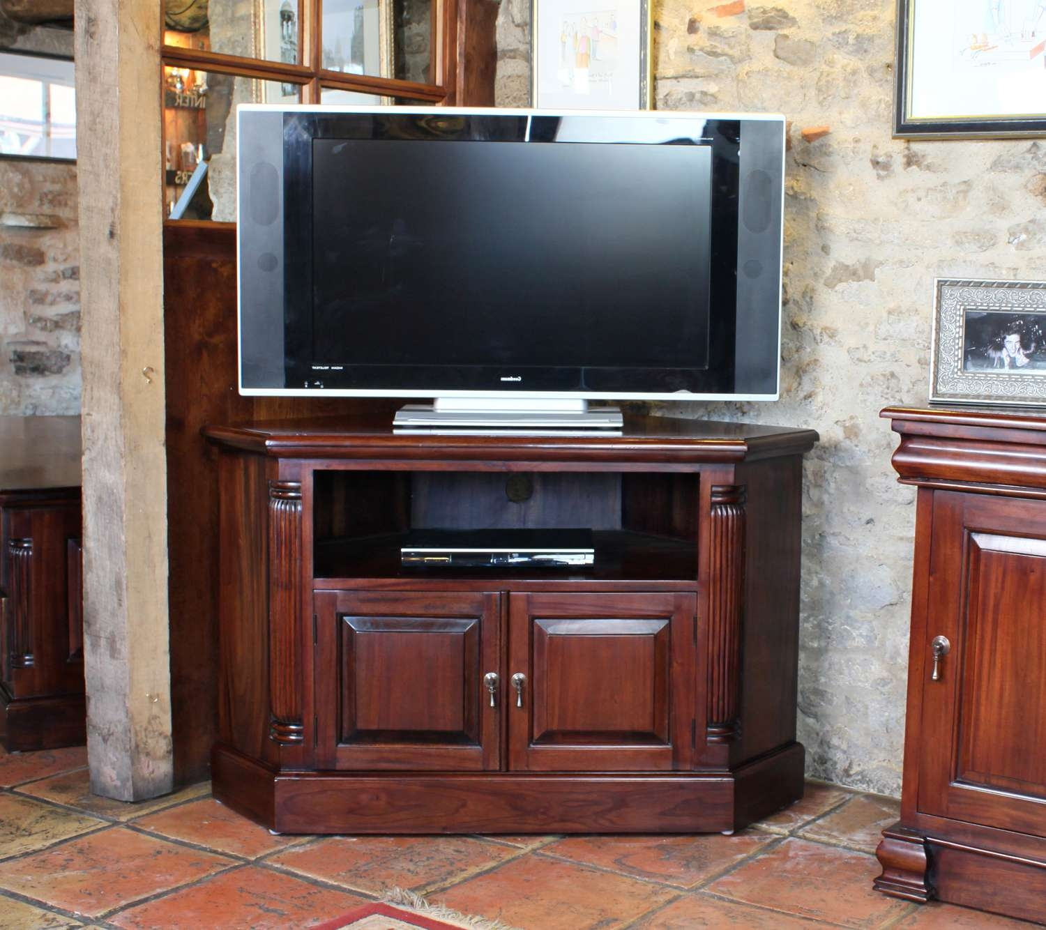 Inadam Furniture – Corner Tv Cabinet From Our 'unique Living Regarding Mahogany Corner Tv Cabinets (View 10 of 20)