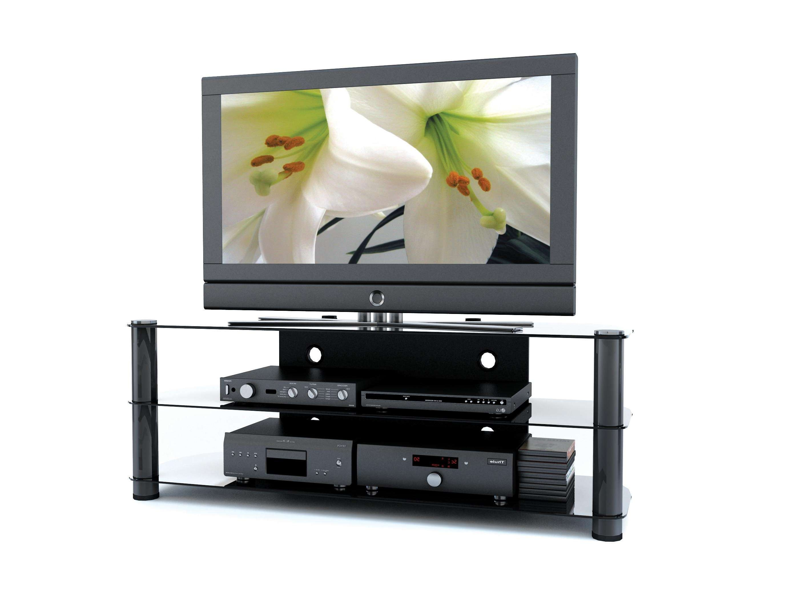 Inch Tv Stand With Modern Glass Flat Screen Decoration Furniture Throughout Modern Glass Tv Stands (View 8 of 15)
