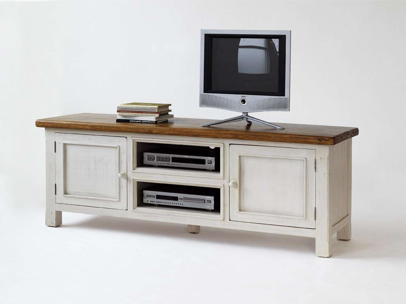 Incredible Decoration White Wood Furniture Nice Design Ideas In White Wood Tv Stands (View 4 of 15)