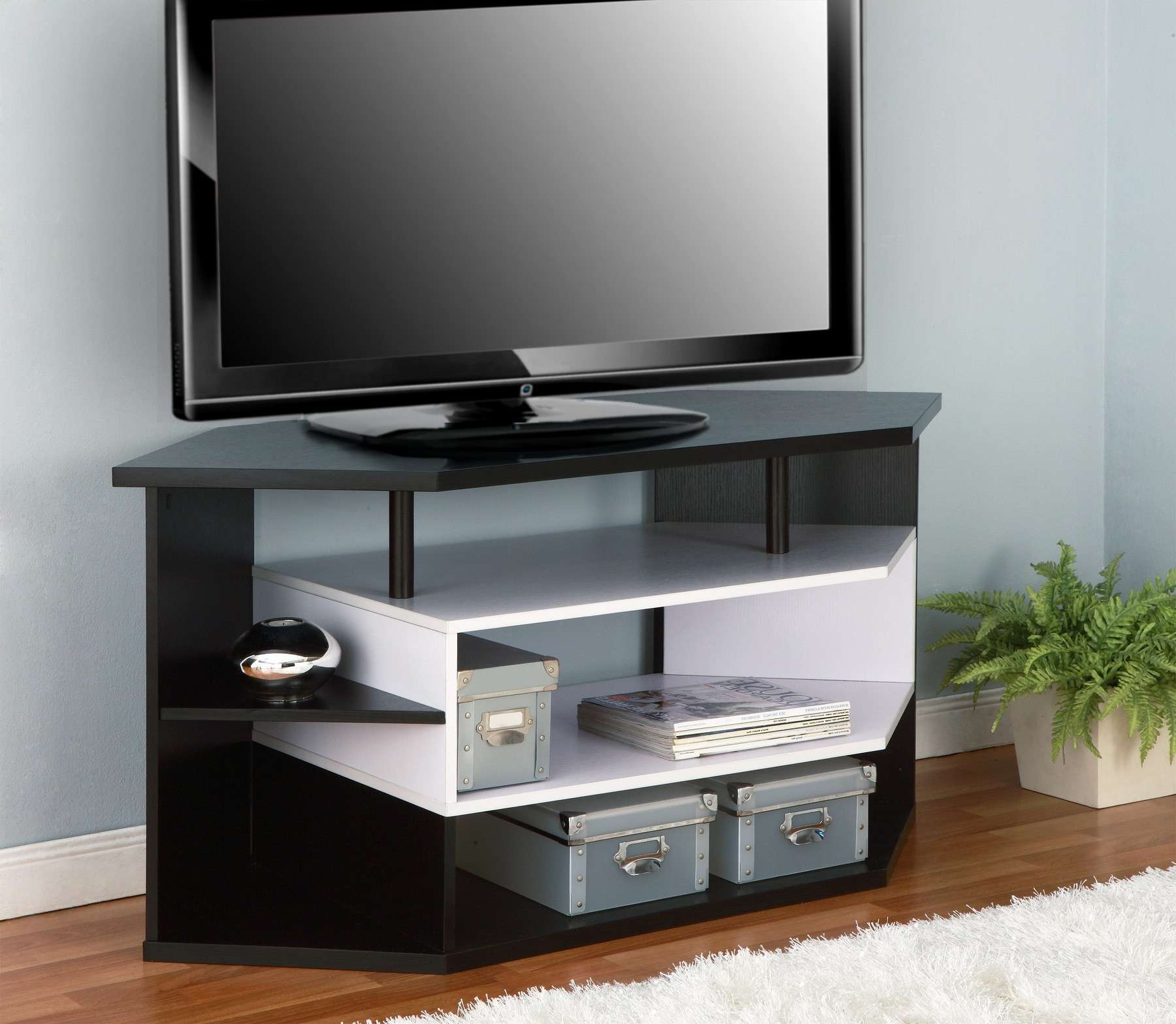 Incredible Modern Corner Tv Stand With Uk Cf White Trends Images Regarding Modern Corner Tv Stands (Gallery 19 of 20)