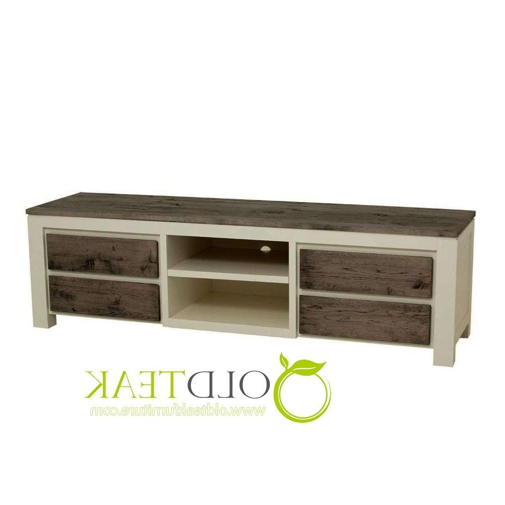 Indonesia Teak Furniture | White Painted Tv Cabinet Modern Top With White Painted Tv Cabinets (Gallery 18 of 20)