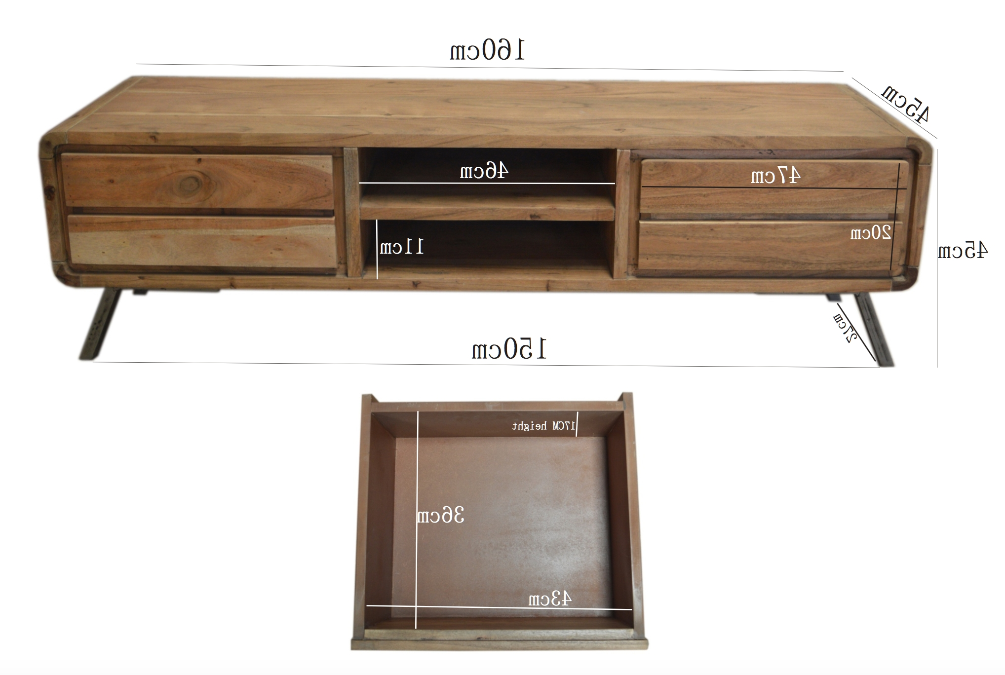 Industrial Furniture – Scandinavian Wooden Tv Cabinet Scandus With With Scandinavian Tv Stands (View 5 of 15)