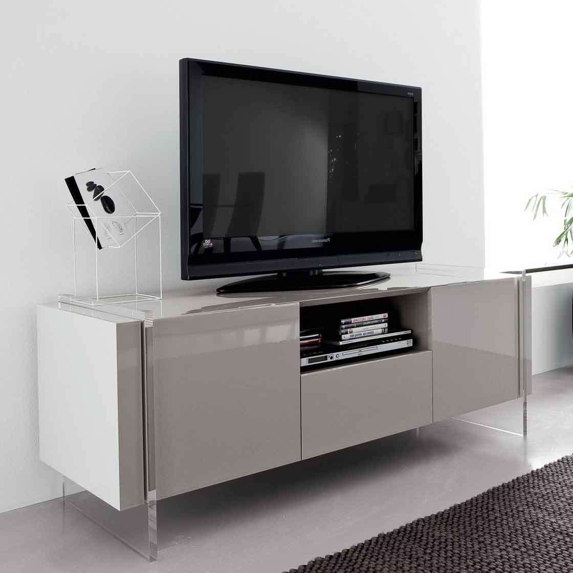 Innovative Tv Stand For Home Entertainment Room With Three Throughout Acrylic Tv Stands (View 7 of 15)