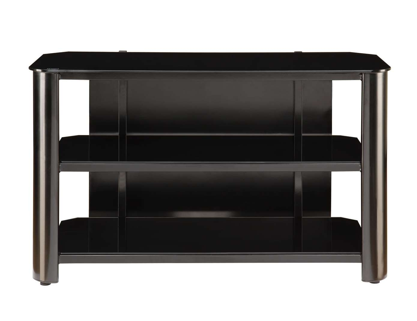 Innovex Black Glass Tv Stand Tpt42G29 In Black Glass Tv Stands (View 10 of 15)
