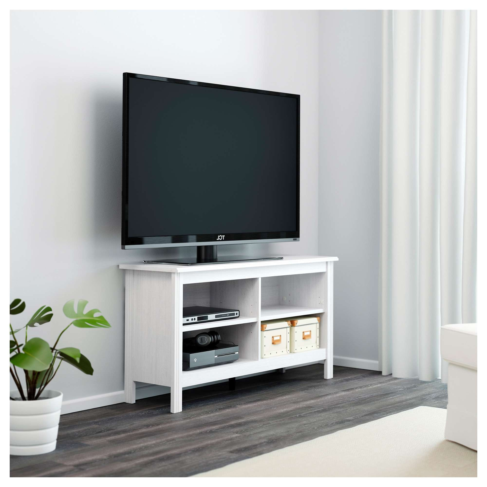 Interior : Appealing Shallow Tv Stand Expand Furniture And Small For Small White Tv Stands (View 6 of 15)