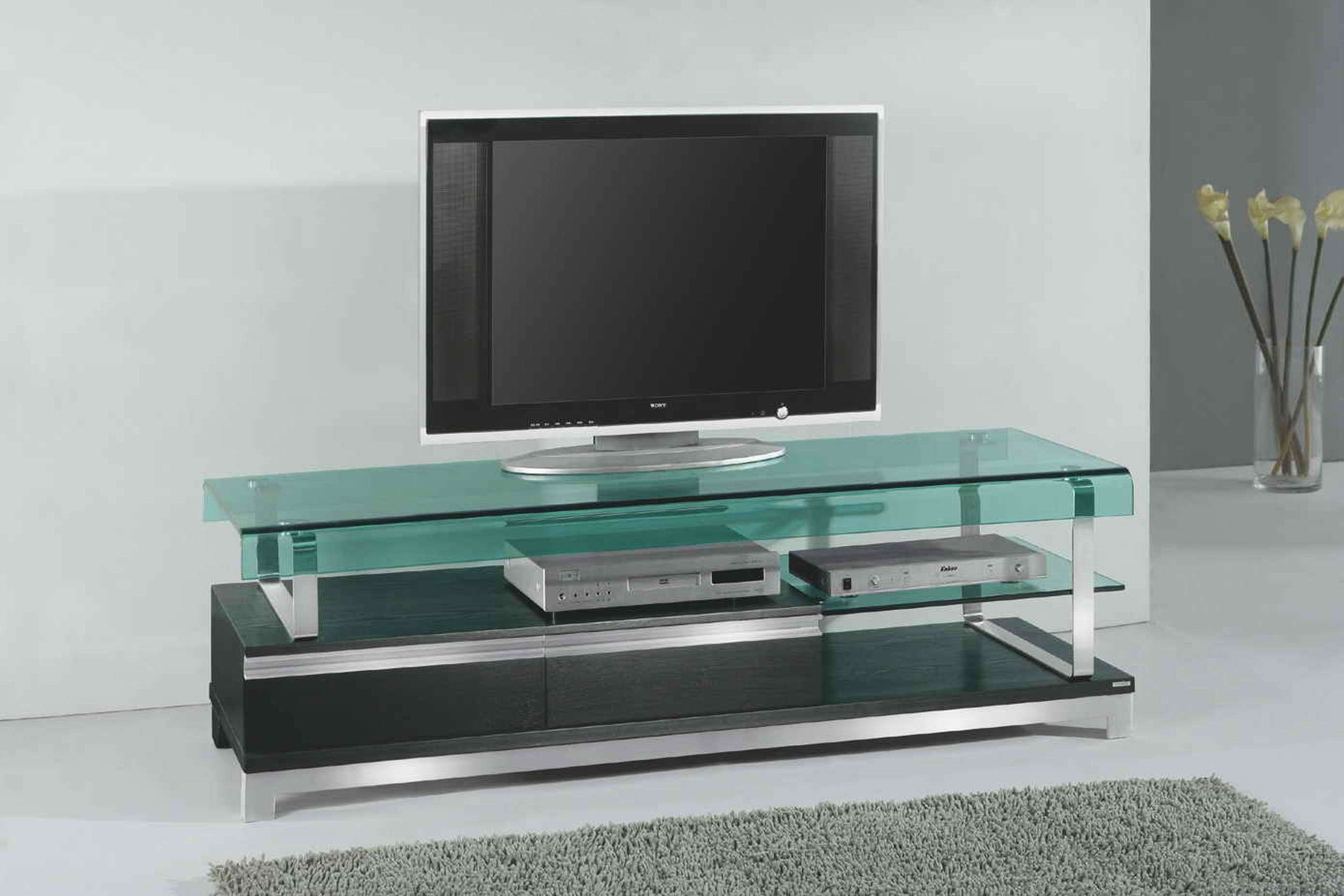 Interior : Glass Green Tv Stand With Shelves Ceramic Tile Flooring Throughout Green Tv Stands (View 5 of 15)