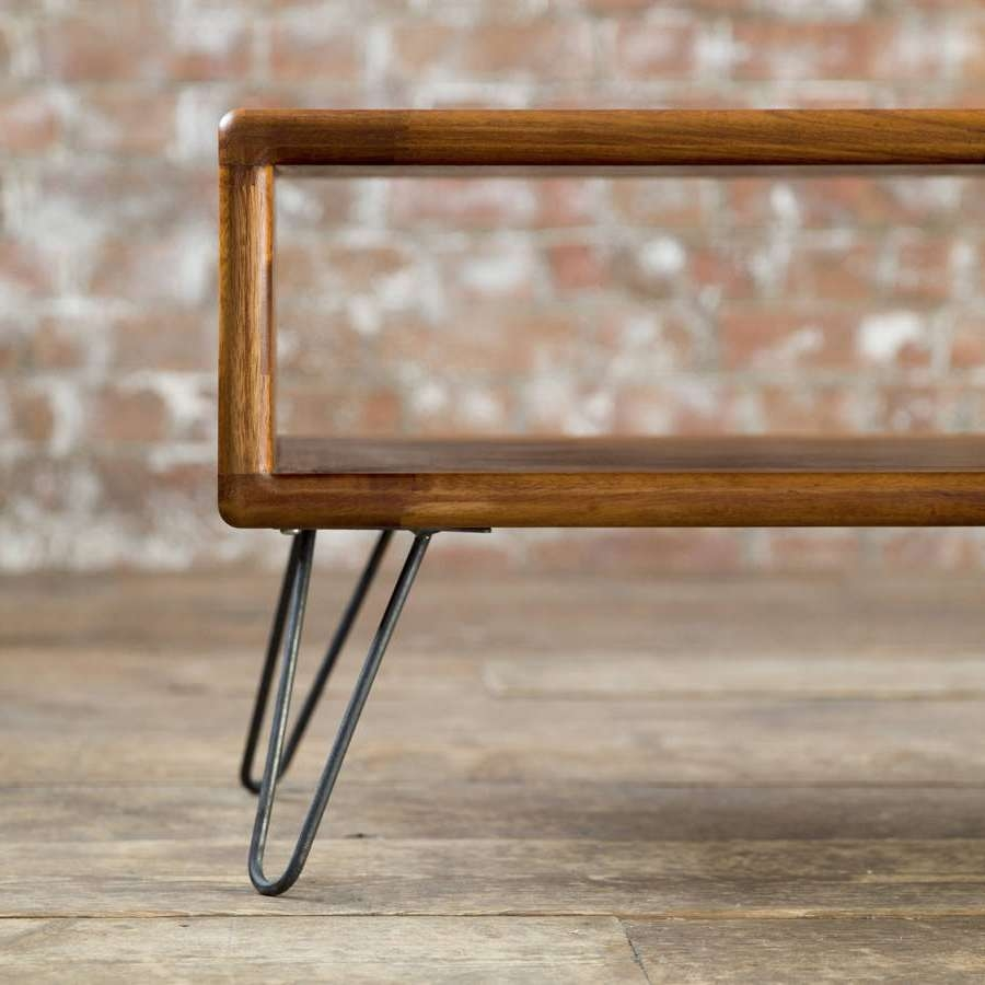 Iroko Midcentury Modern Hairpin Leg Tv Standbiggs & Quail Inside Hairpin Leg Tv Stands (View 9 of 15)