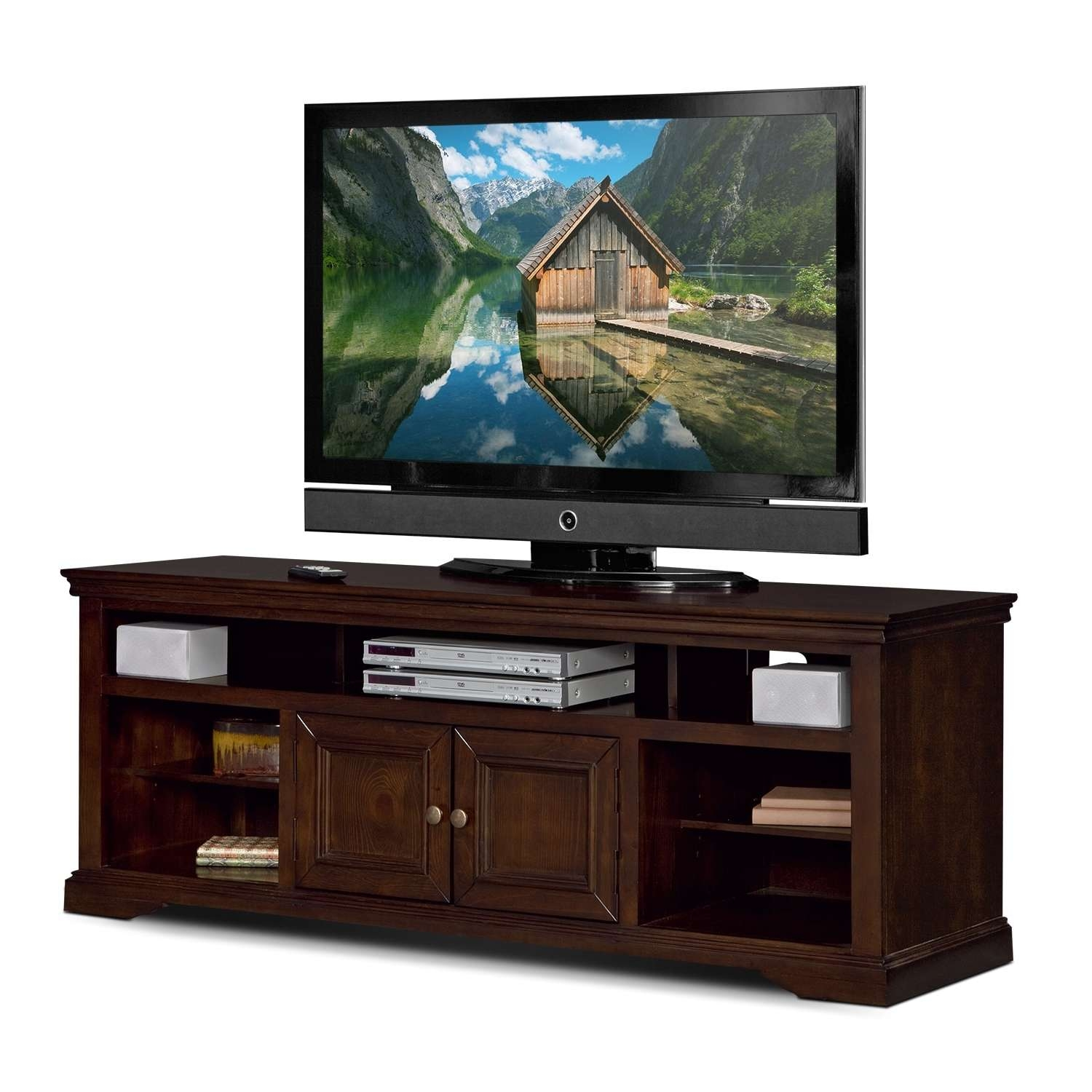 "Jenson 70"" Tv Stand – Cherry 