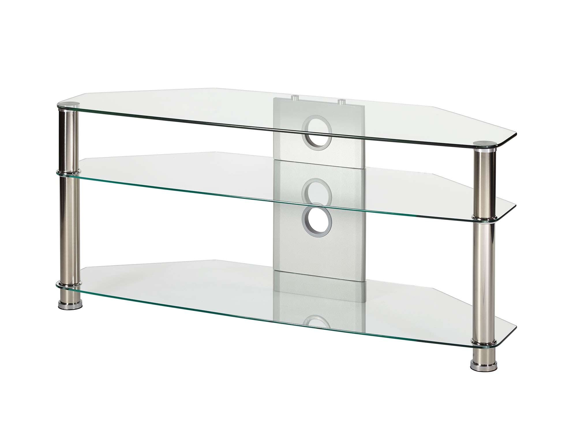 Jet Mmt Cl1150 Clear Glass Tv Stand Stands For Inch Large Corner With Clear Glass Tv Stands (View 6 of 15)