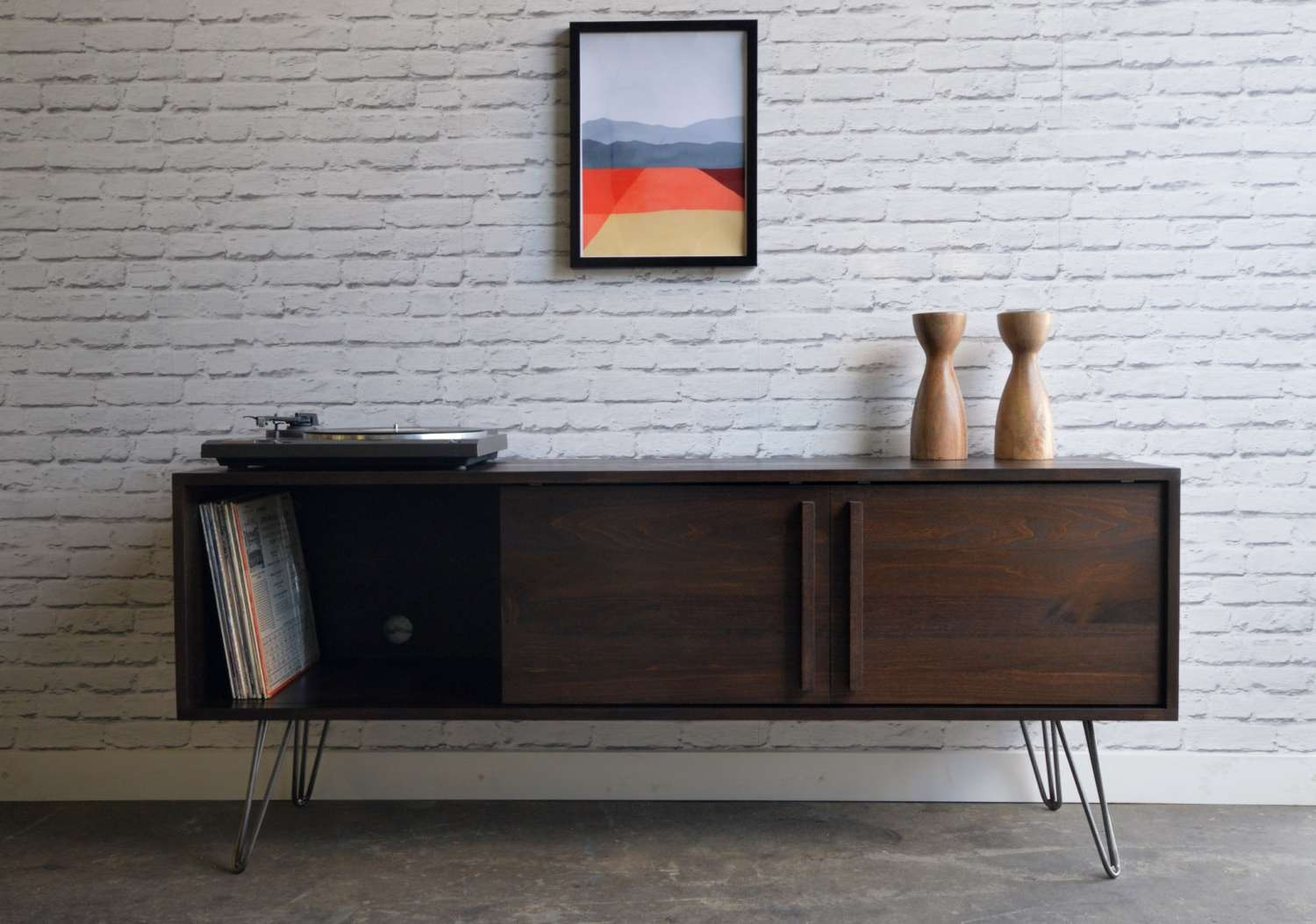 Kasse Tv Stand With Hairpin Legs Regarding Hairpin Leg Tv Stands (Gallery 2 of 15)