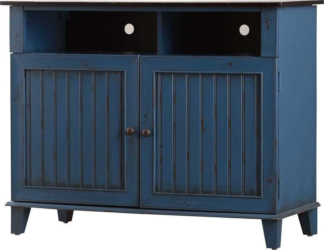 "Kathy Ireland Homemartin Furniture Eclectic 41.6"" Tv Stand Throughout Blue Tv Stands (Gallery 15 of 15)"