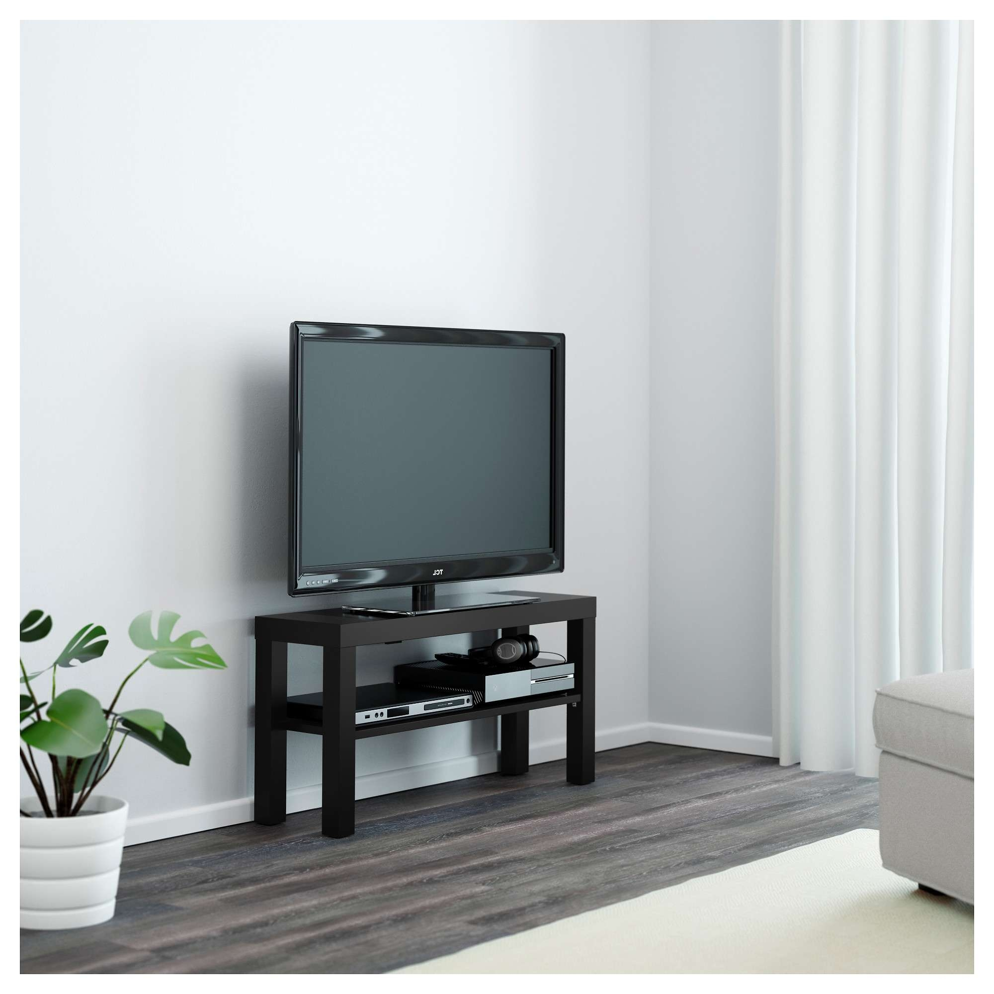 Lack Tv Bench Black 90x26 Cm – Ikea Pertaining To Bench Tv Stands (View 14 of 15)