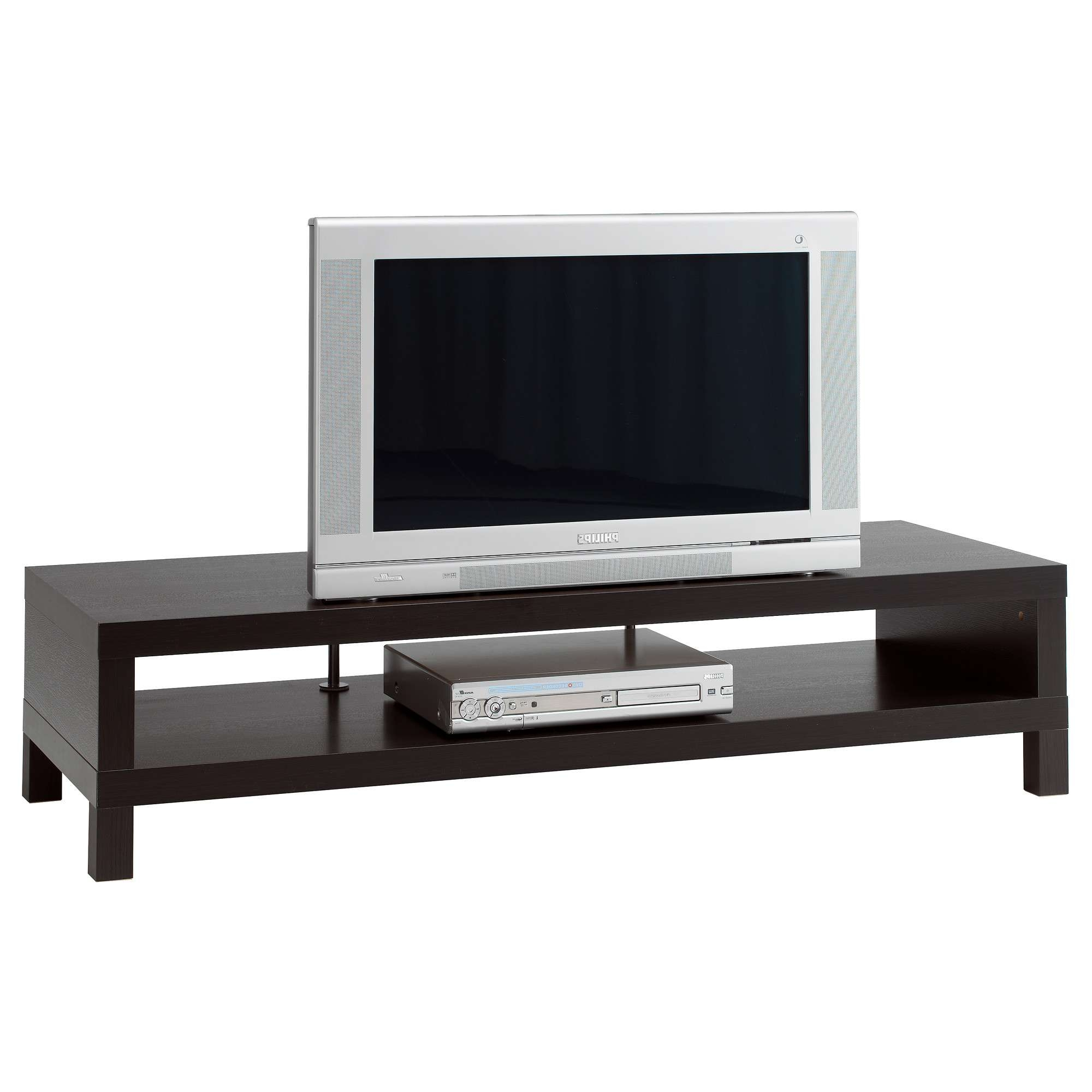 Lack Tv Bench Black Brown 149x55 Cm – Ikea With Regard To Bench Tv Stands (View 10 of 15)
