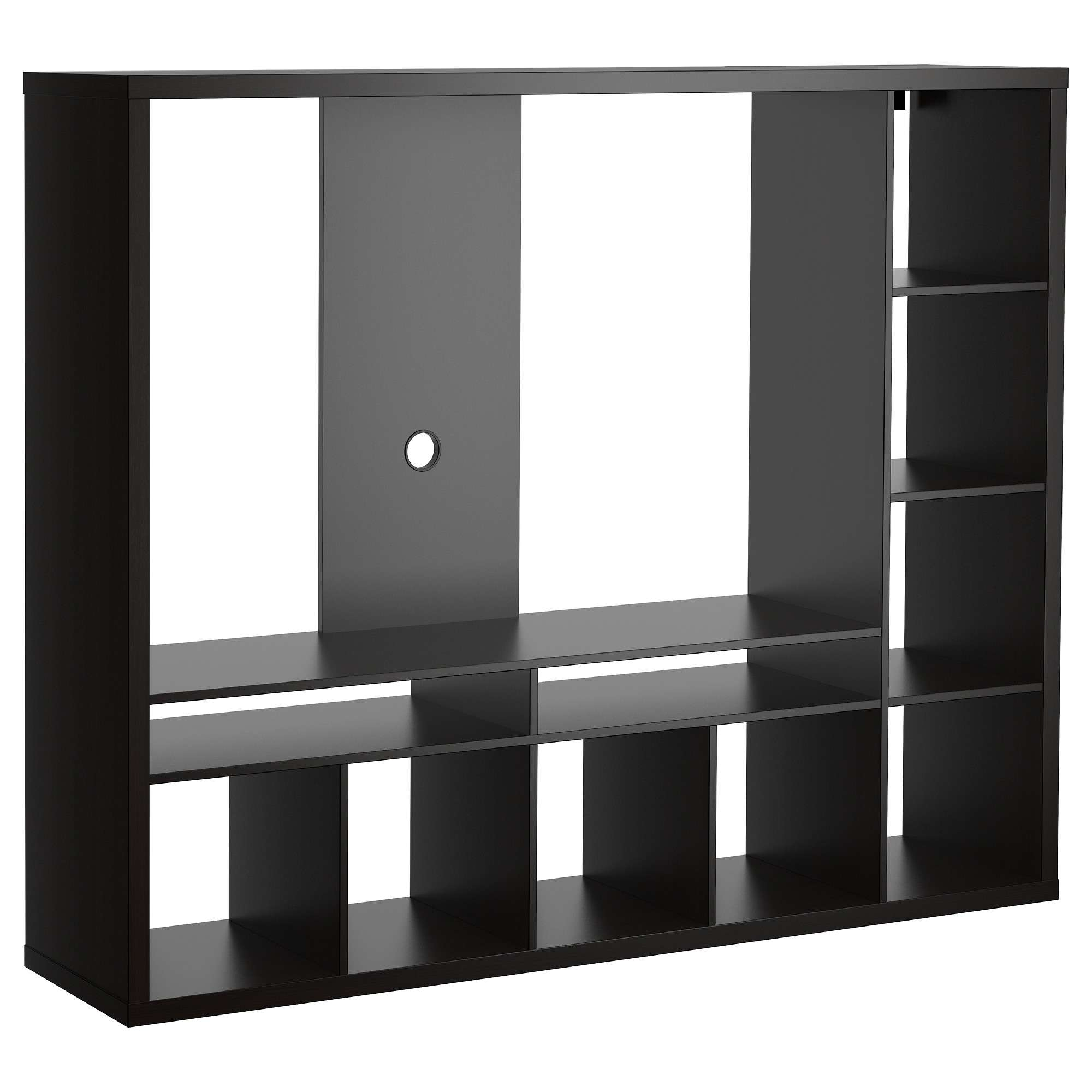 Lappland Tv Storage Unit – Black Brown – Ikea Regarding L Shaped Tv Stands (View 7 of 15)