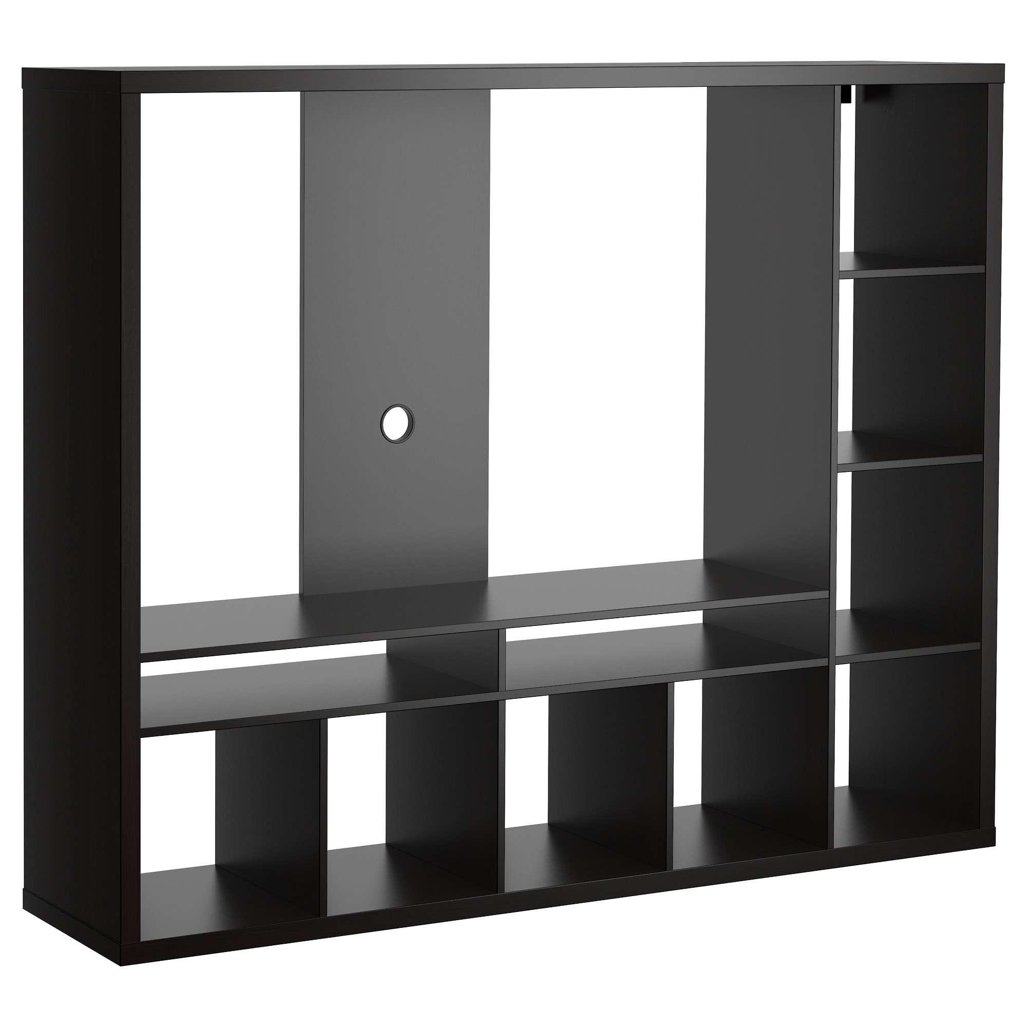 Lappland Tv Storage Unit – Black Brown – Ikea Regarding L Shaped Tv Stands (View 2 of 15)