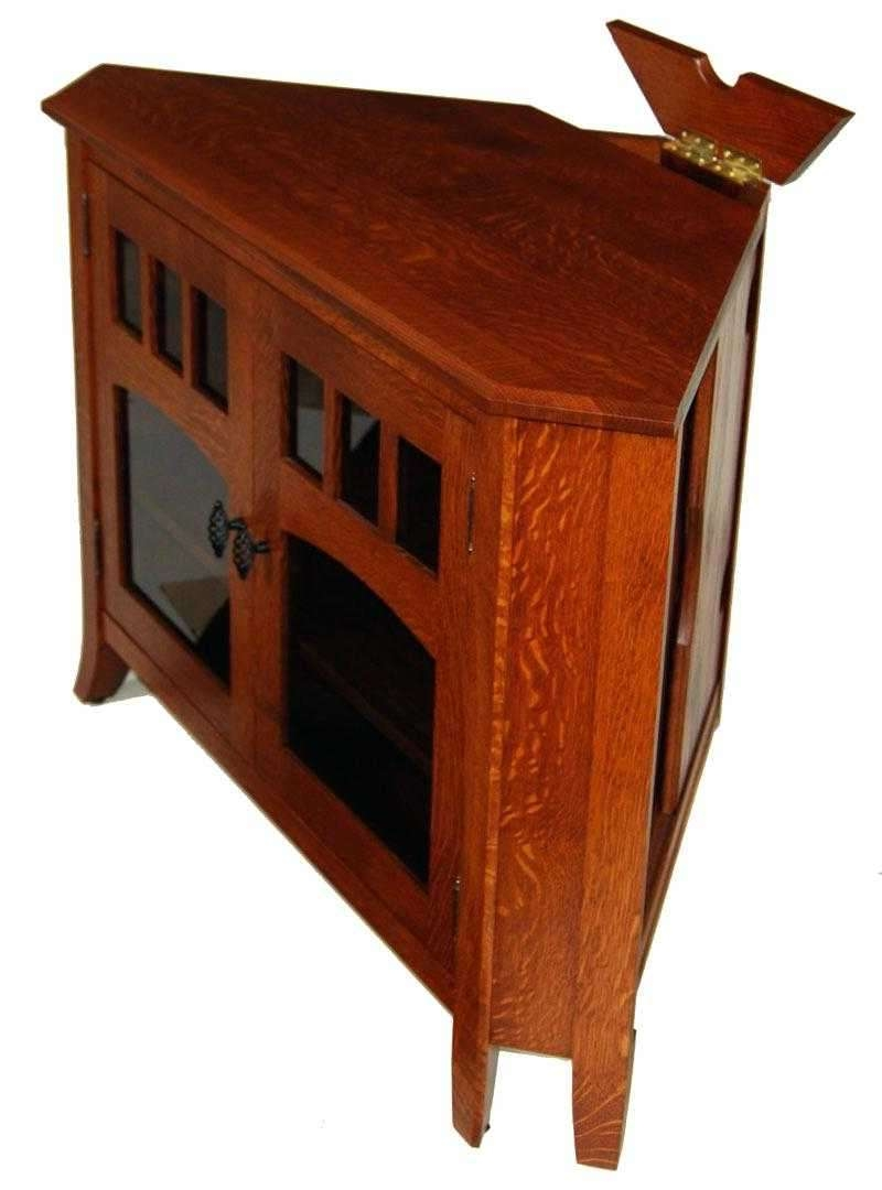 Large Corner Tv Stand And Solid Wood Stands Oak Collection Regarding Solid Wood Corner Tv Cabinets (View 6 of 20)