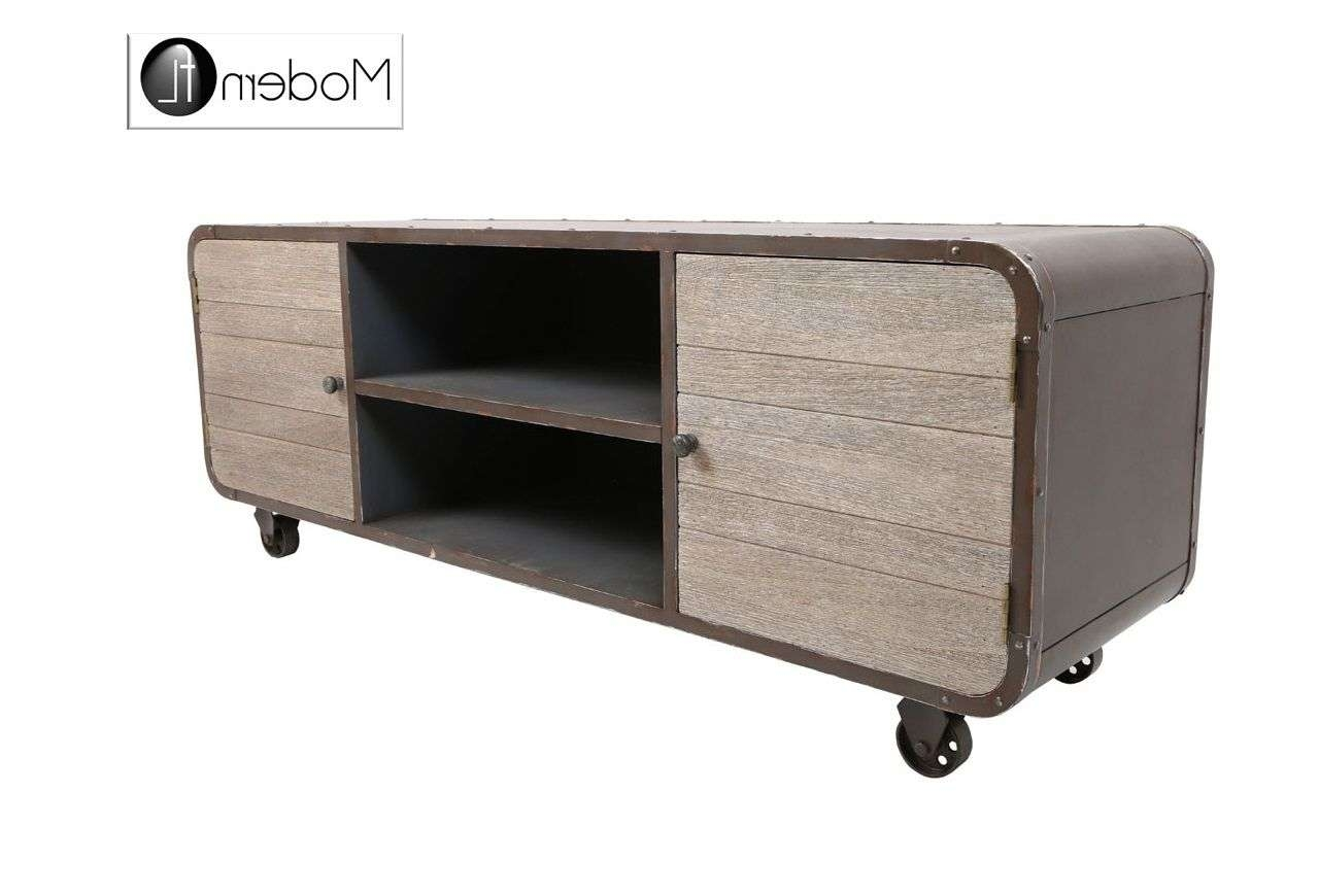 Large Industrial Style Tv Stand Throughout Industrial Style Tv Stands (View 11 of 15)