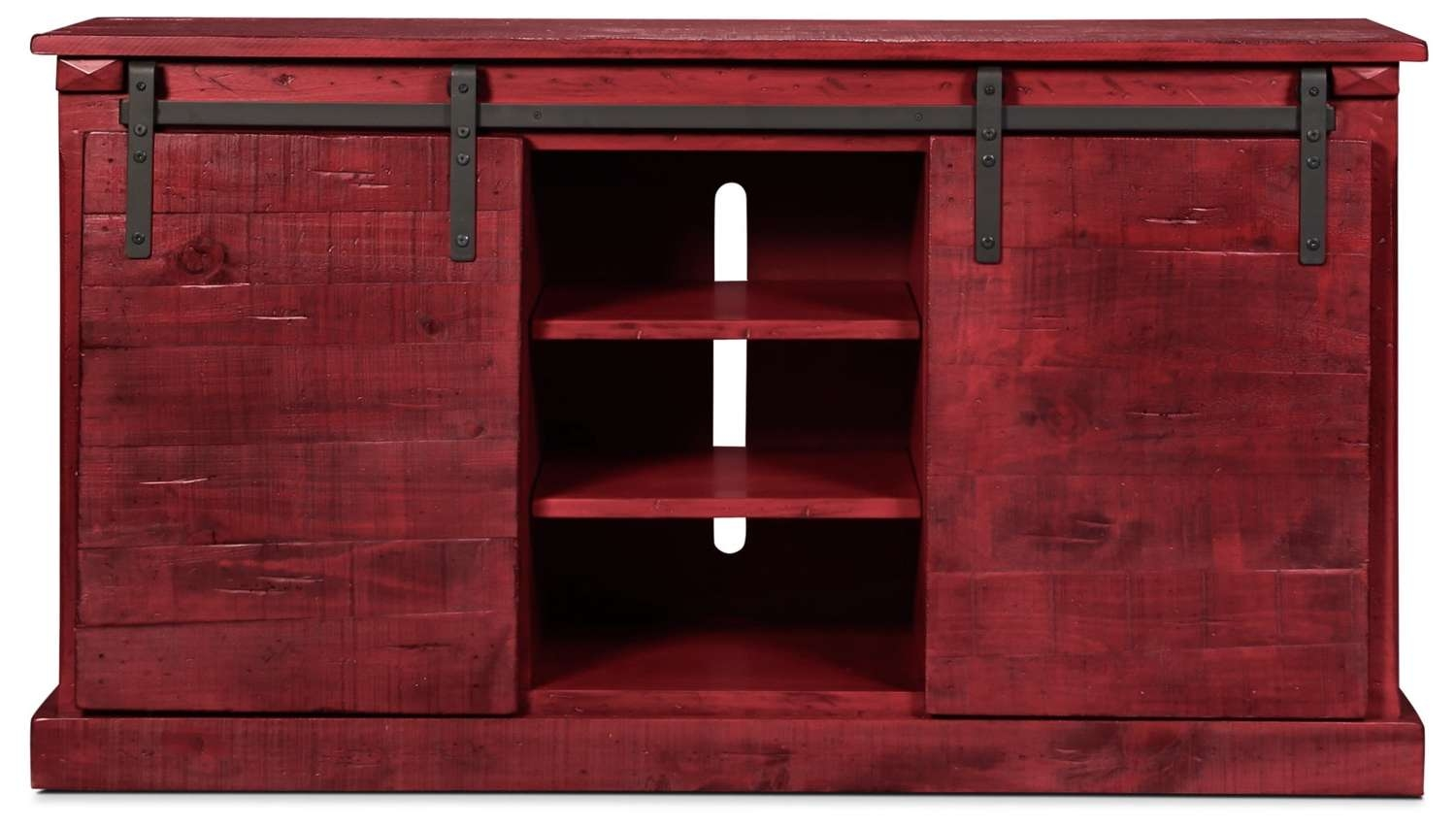 "Lawson 65"" Tv Stand – Burned Red 