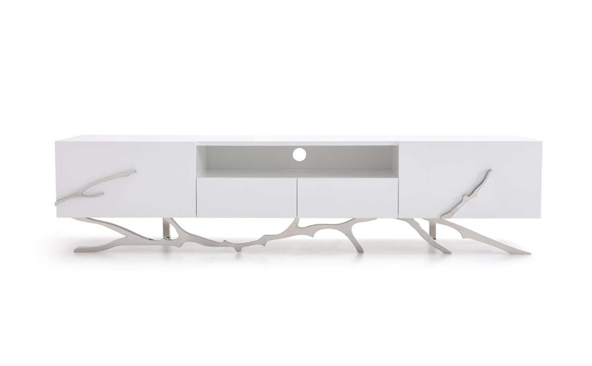 Legend Modern White Tv Stand Inside White Tv Stands Modern (View 7 of 15)