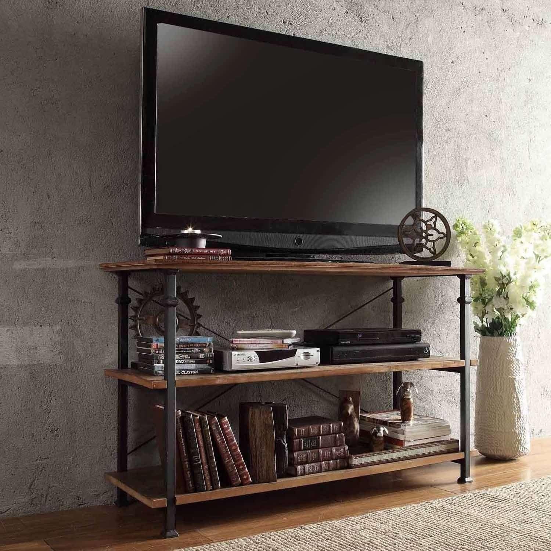 Light Brown Tv Stands Blue Spruce Landscaping Screened In Front In Light Brown Tv Stands (View 9 of 20)