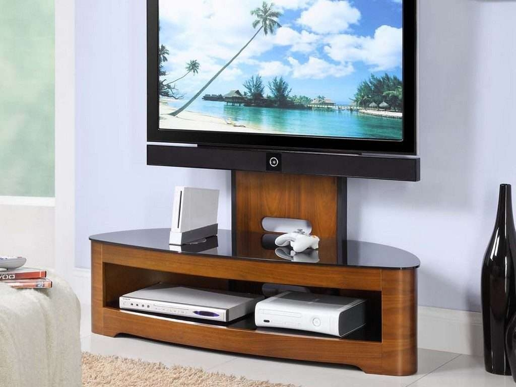 Living ~ Black Wood Tv Stand Wall Tv Stands For Flat Screen Tvs Tv With Regard To Led Tv Stands (View 15 of 20)