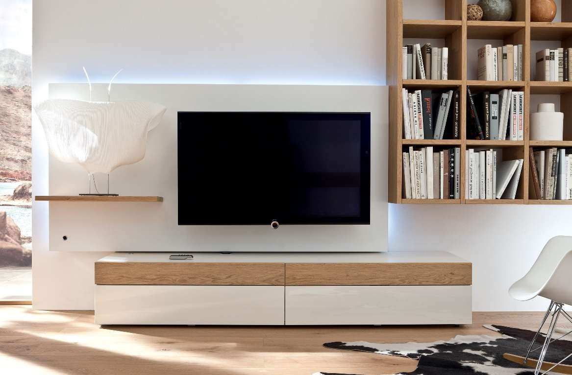 Living ~ Corner Unit Tv Stand White Modern Tv Stand Shape Of A In Cream Tv Cabinets (View 7 of 20)